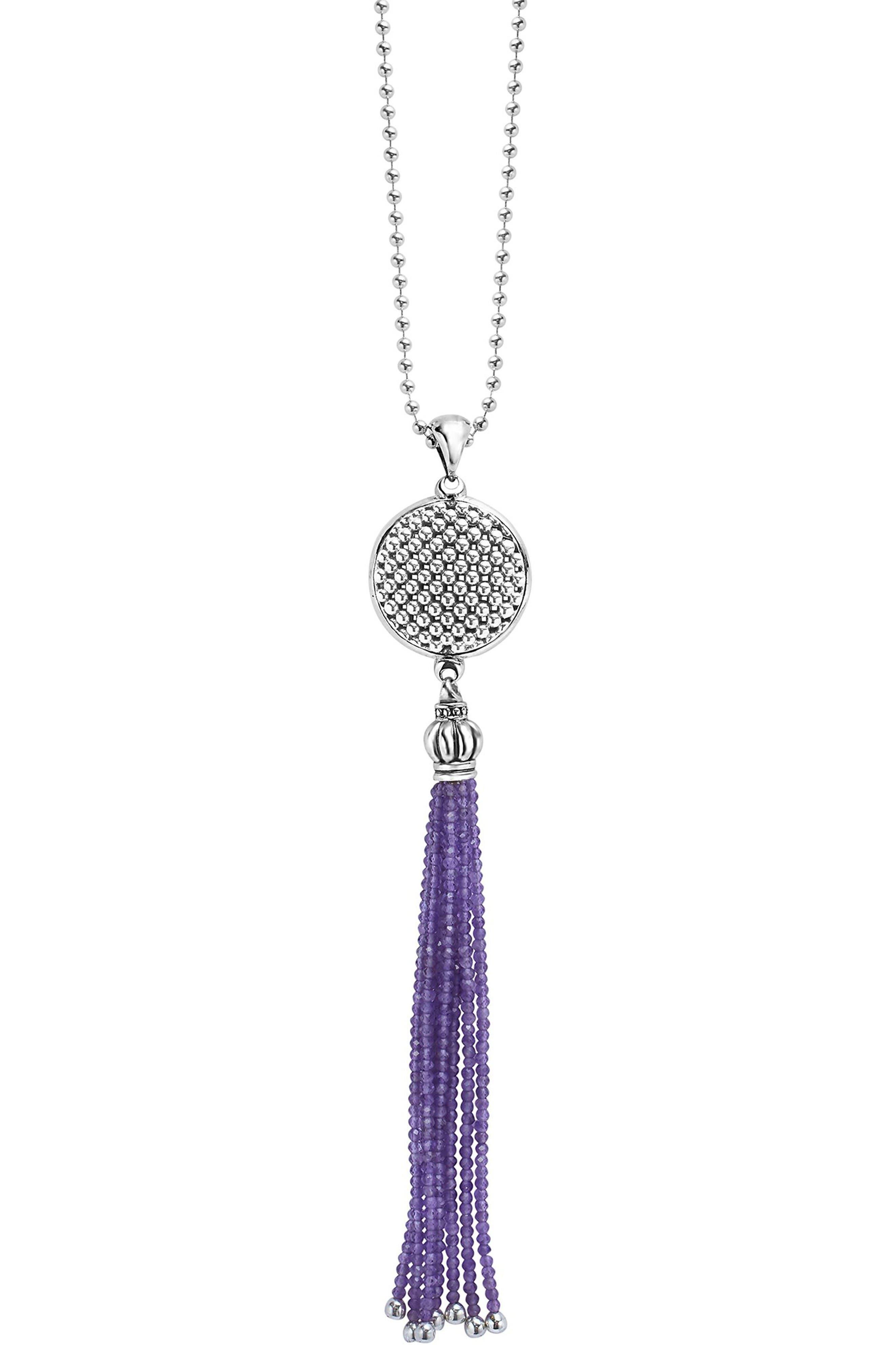 LAGOS Caviar Icon Tassel Pendant Necklace