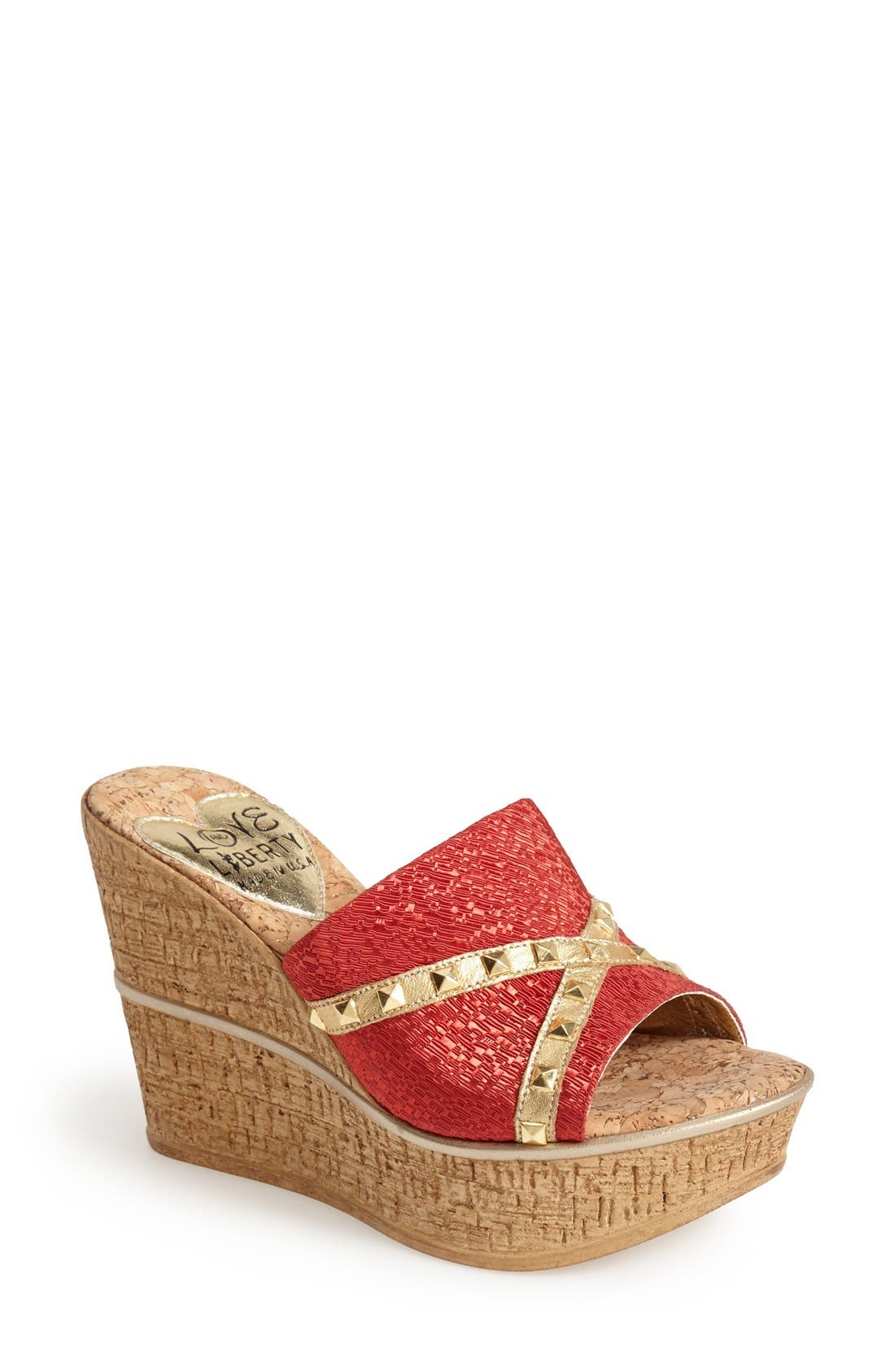 LOVE AND LIBERTY 'Margo' Wedge Slide Sandal