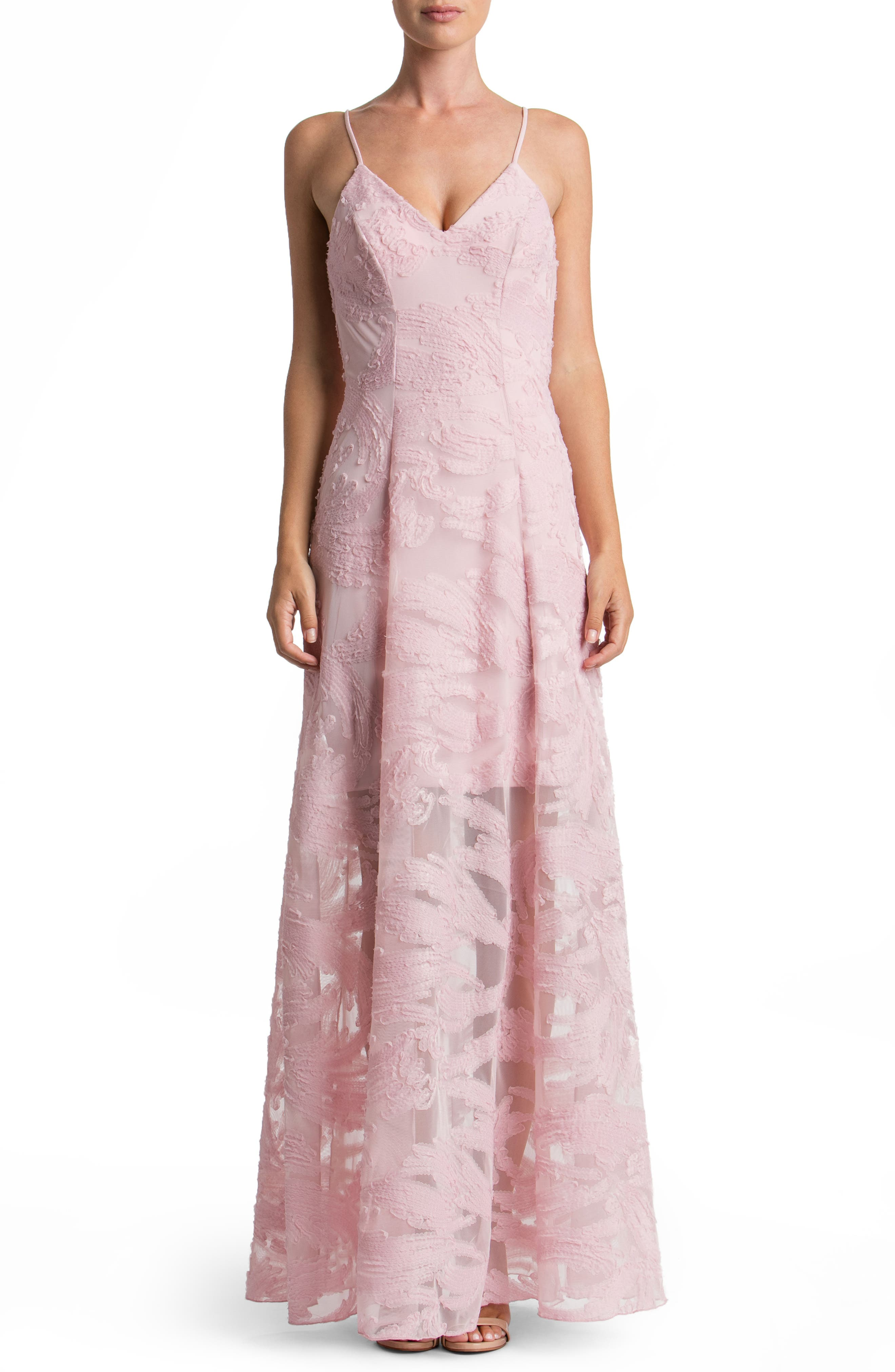 Dress the Population 'Florence' Woven Fit & Flare Gown
