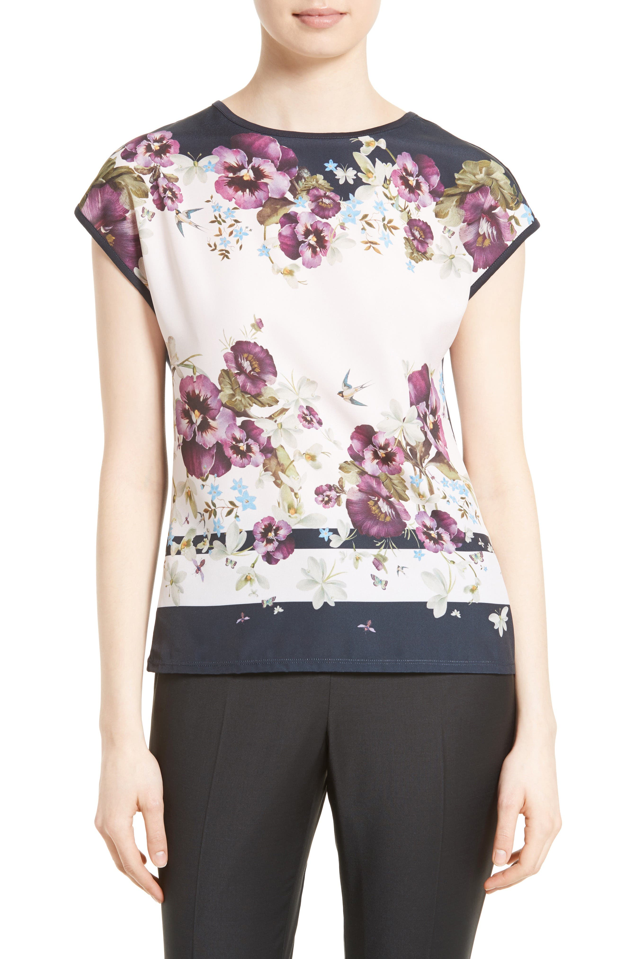 TED BAKER LONDON Deniise Mixed Media Tee