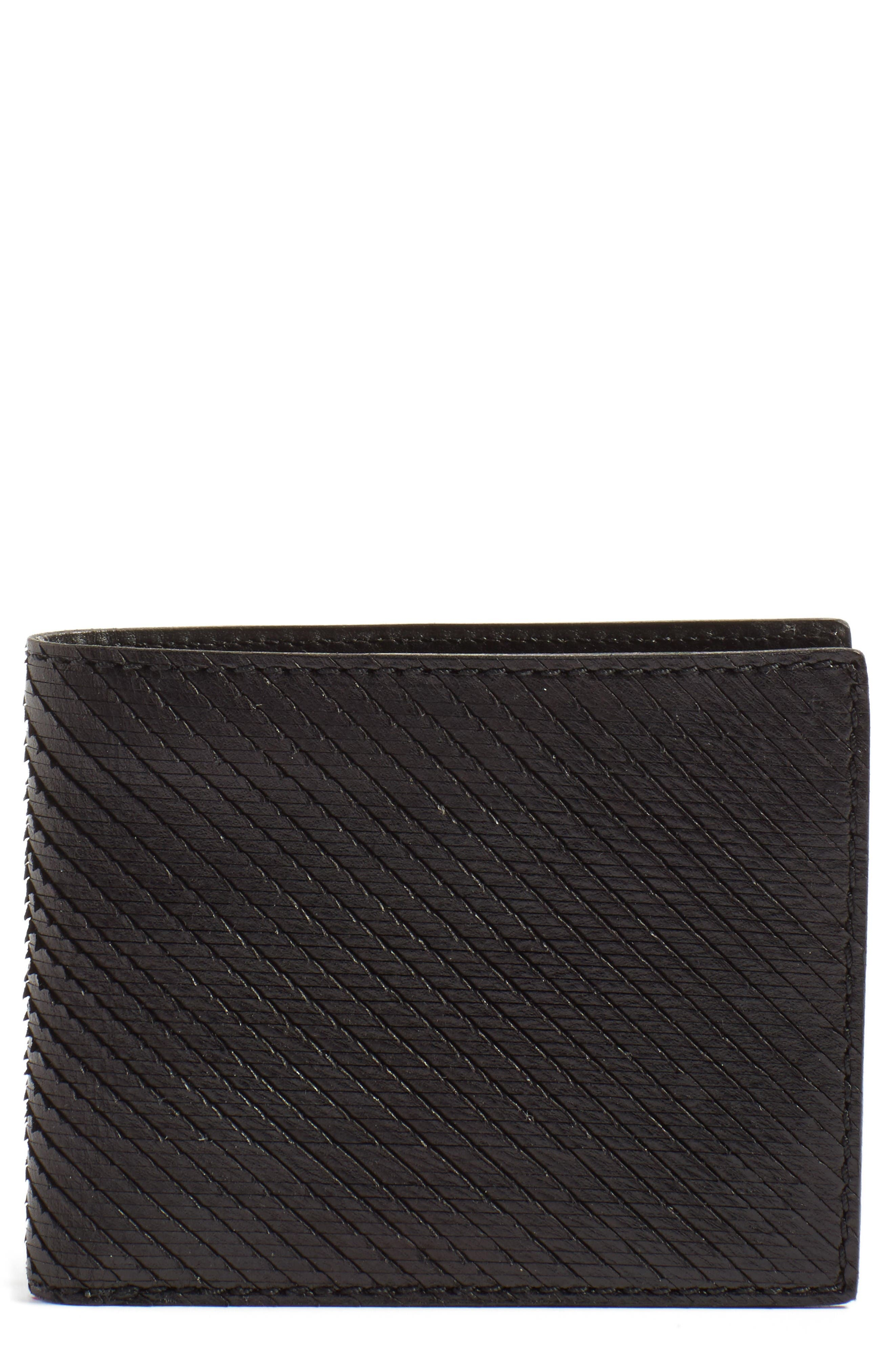John Varvatos Star USA Leather Bifold Wallet