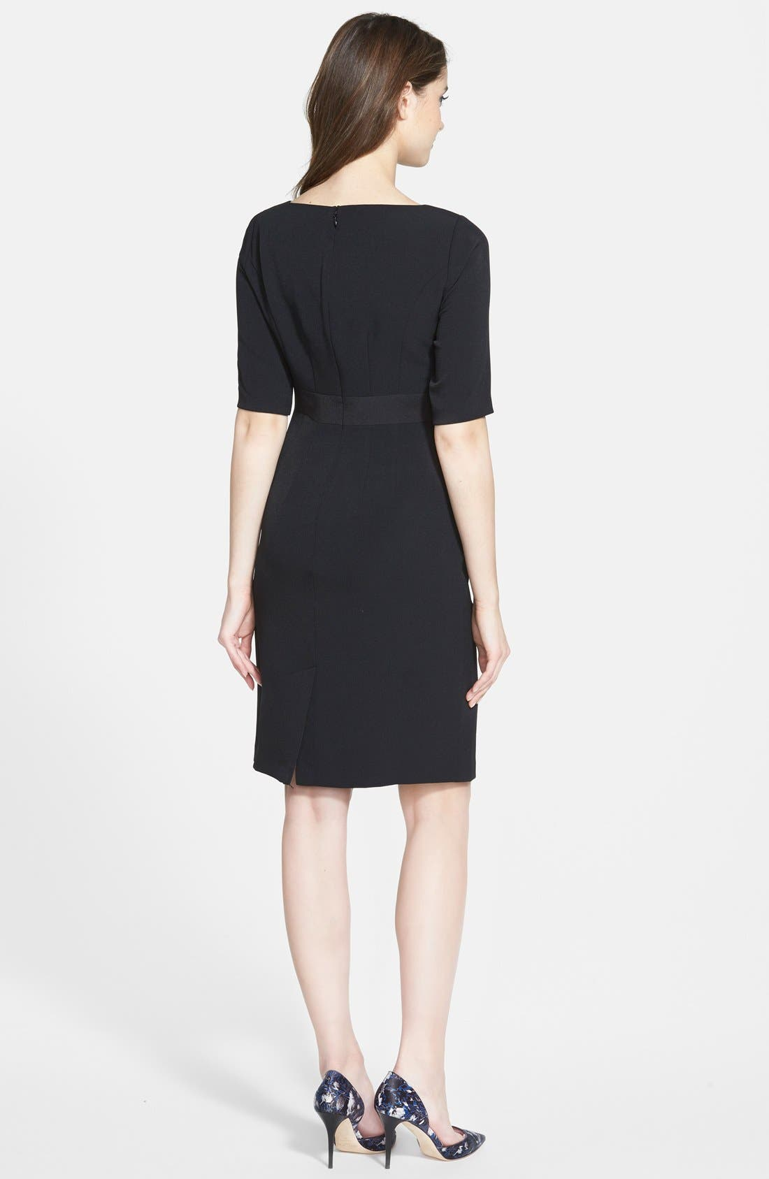 Alternate Image 2  - Adrianna Papell Bow Front Crepe Sheath Dress