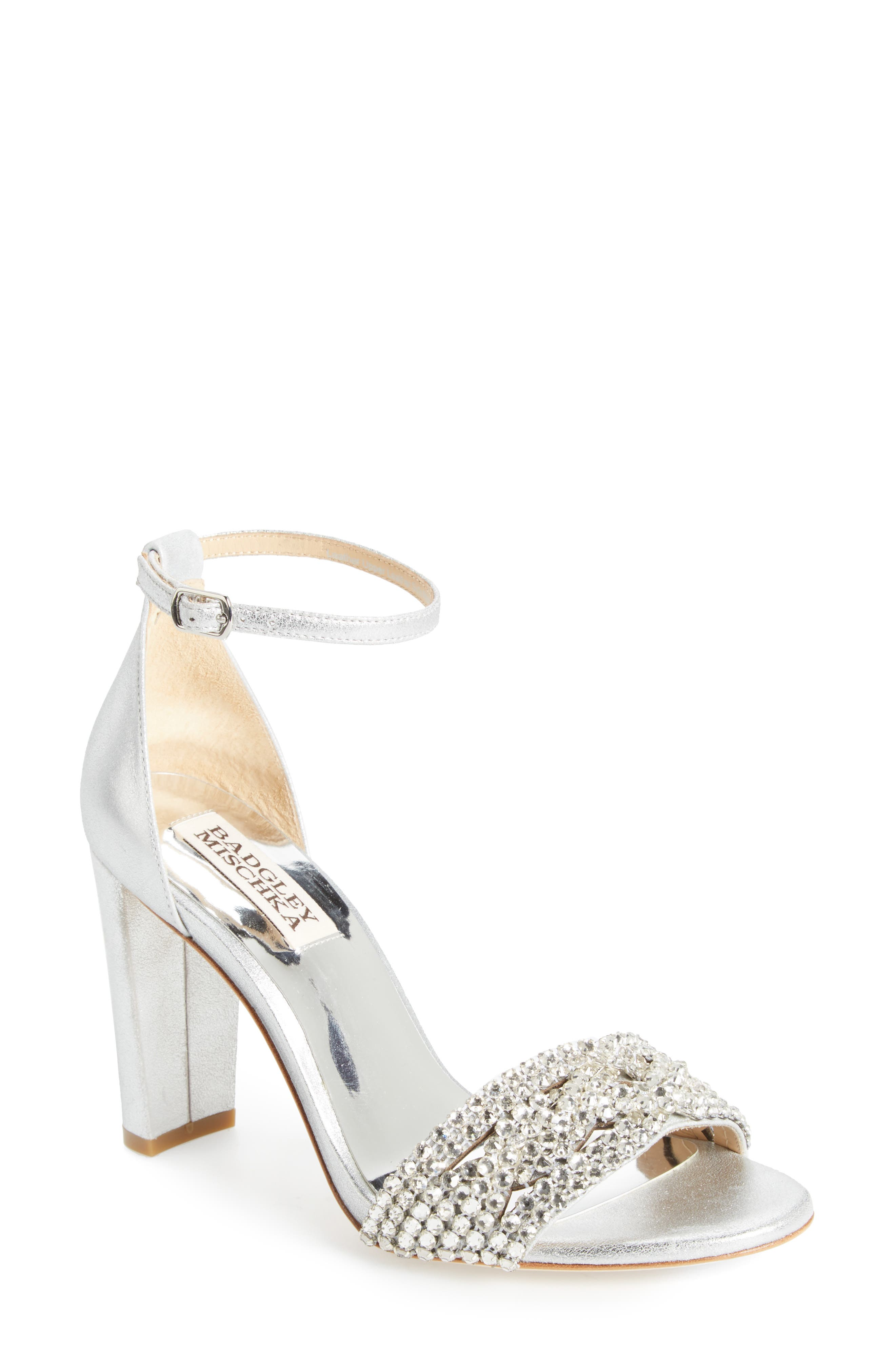 BADGLEY MISCHKA Tessa Crystal Embellished Sandal