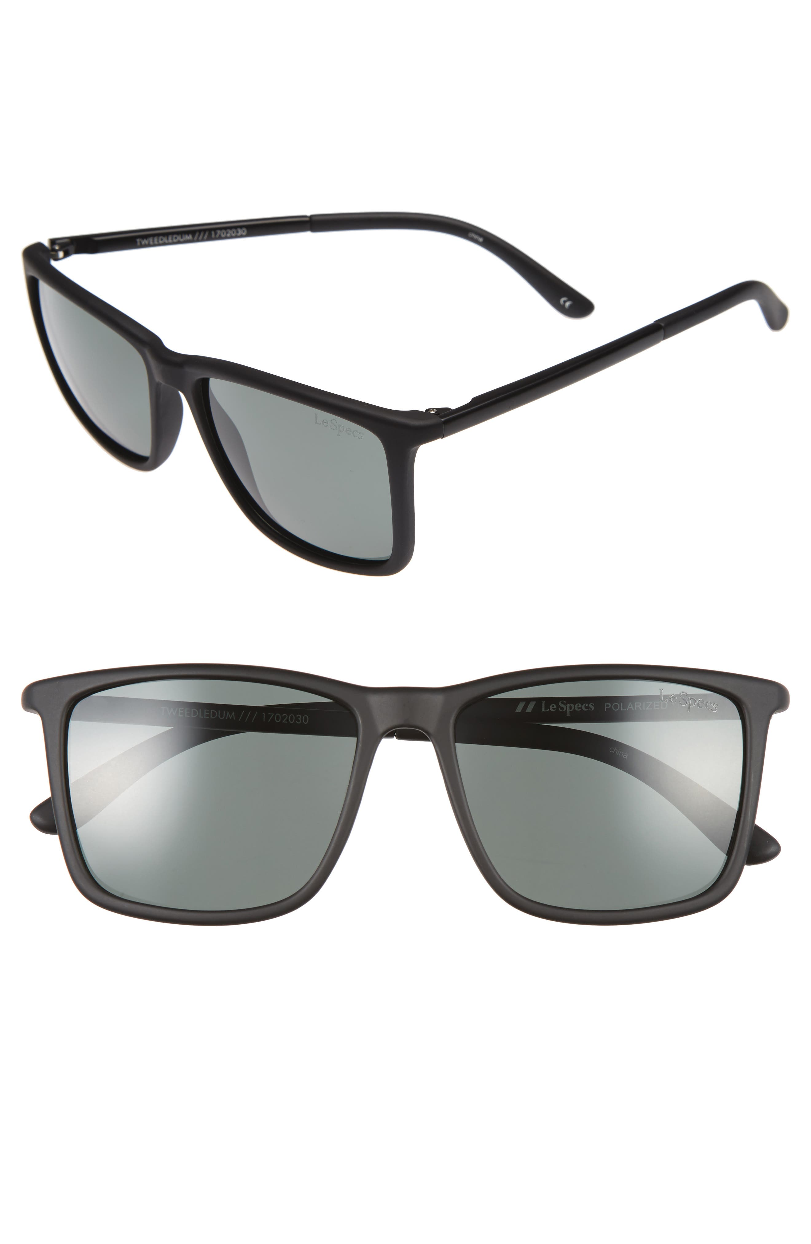 Le Specs Tweedledum 55mm Polarized Sunglasses