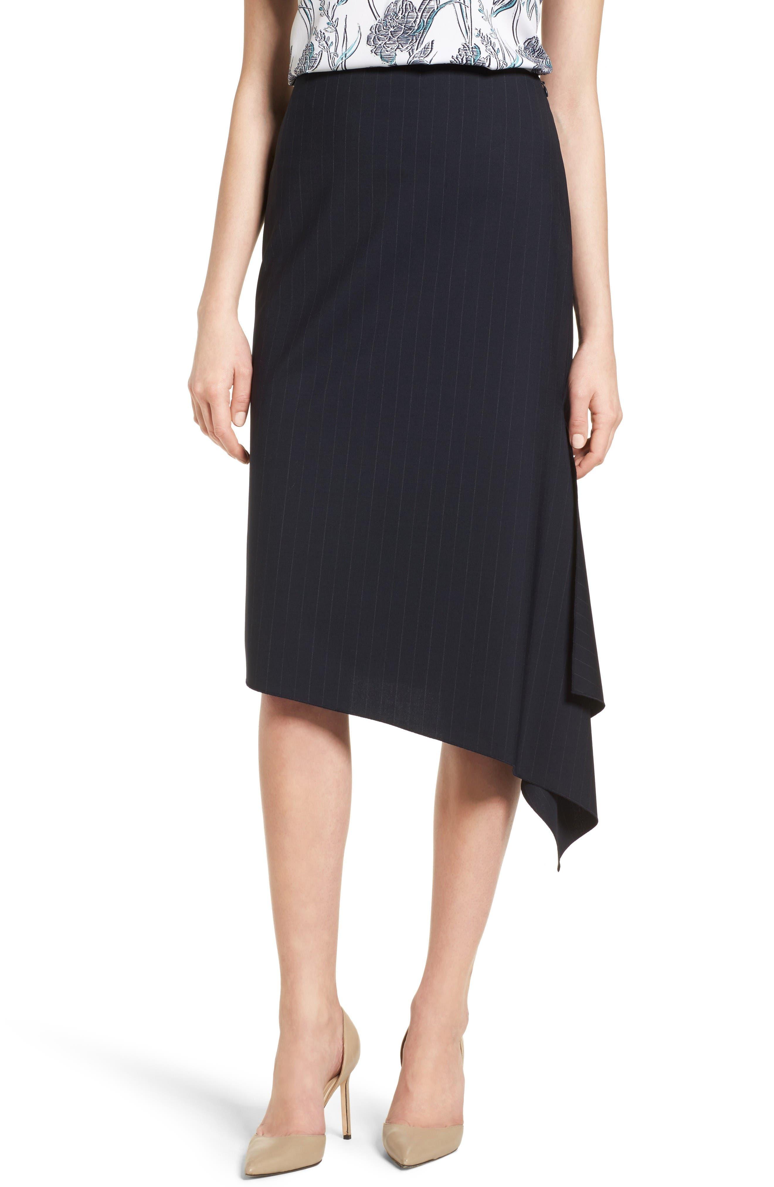 CLASSIQUES ENTIER® Classiques Entier Pinstripe Stretch Wool Skirt