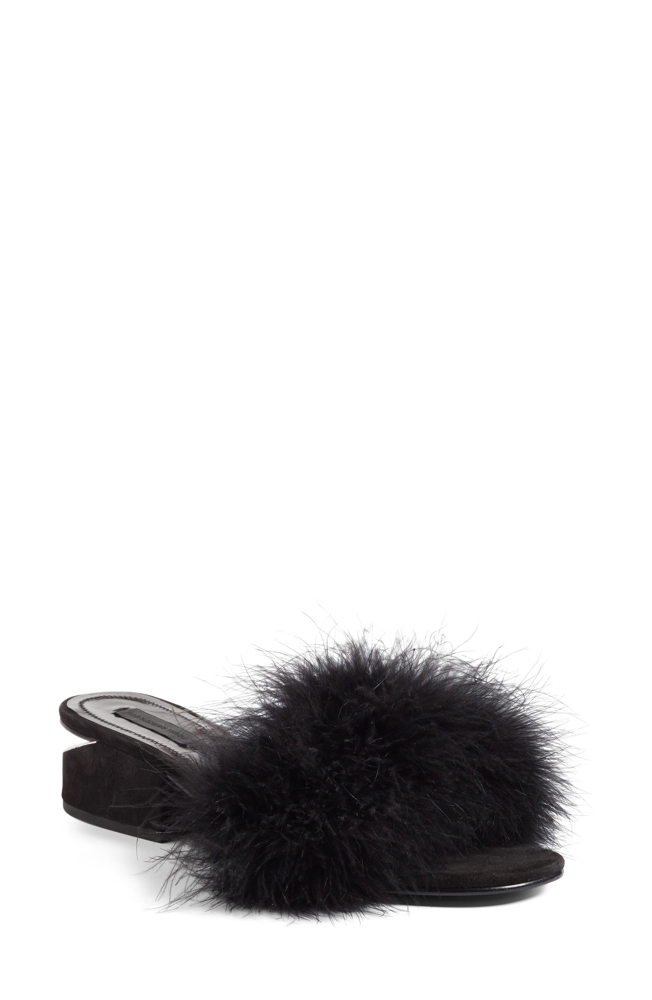 Alternate Image 1 Selected - Alexander Wang Lou Feather Slide Sandal (Women)