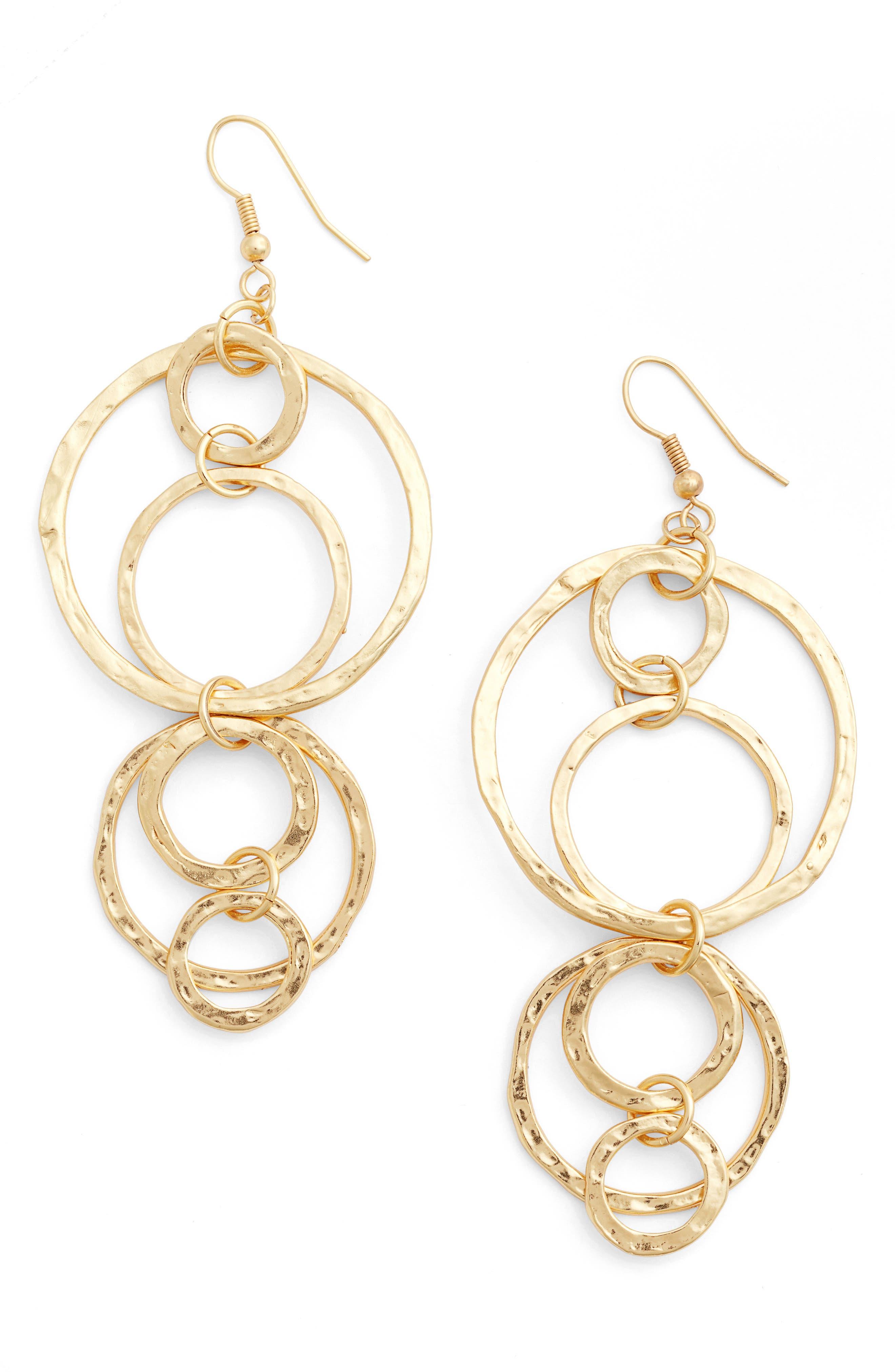 Alternate Image 1 Selected - Karine Sultan Louane Multi Circle Drop Earrings