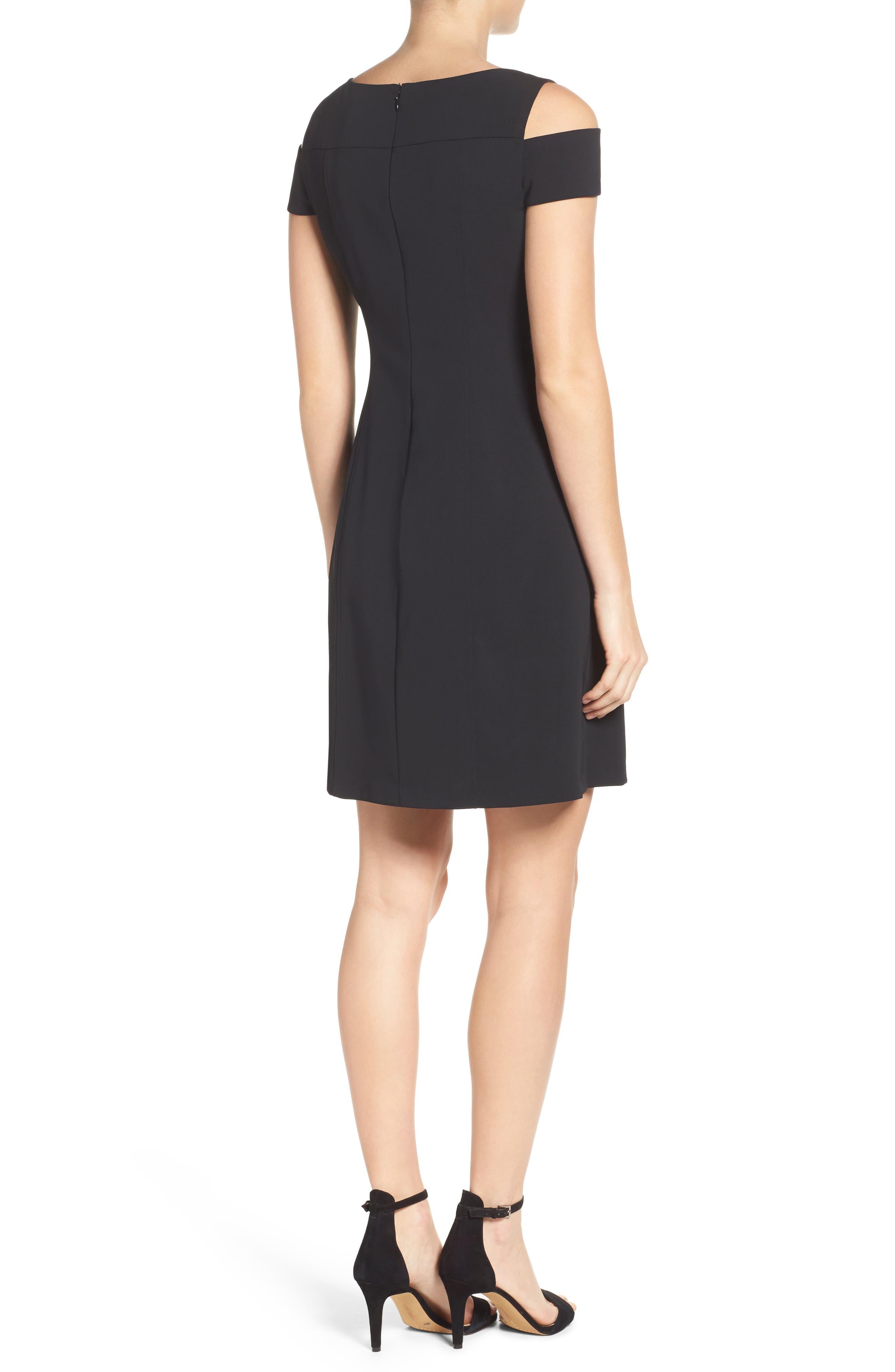 Alternate Image 2  - Adrianna Papell Cold Shoulder Stretch A-Line Dress
