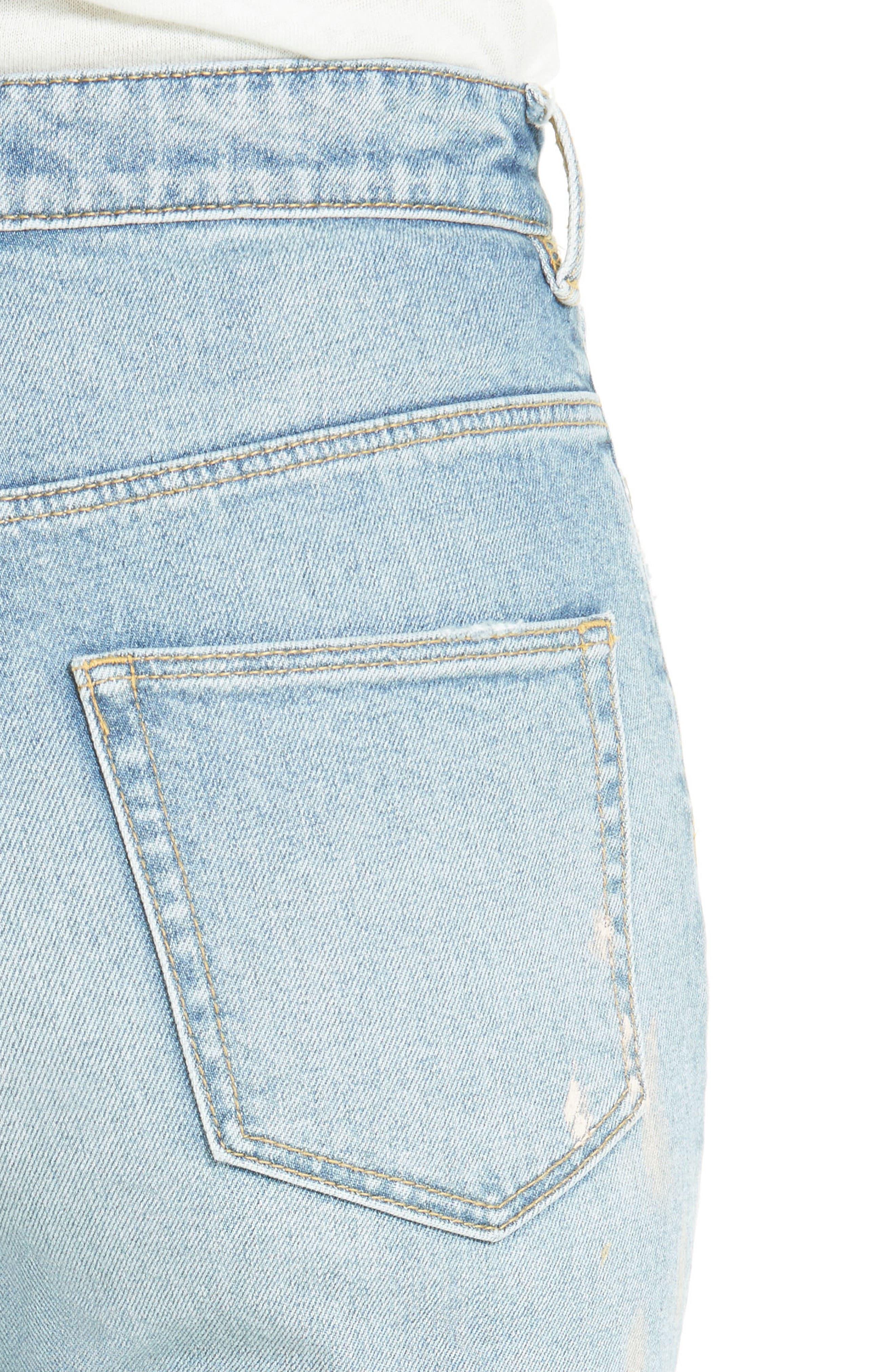 Alternate Image 4  - La Vie Rebecca Taylor Paint Splatter Straight Leg Jeans