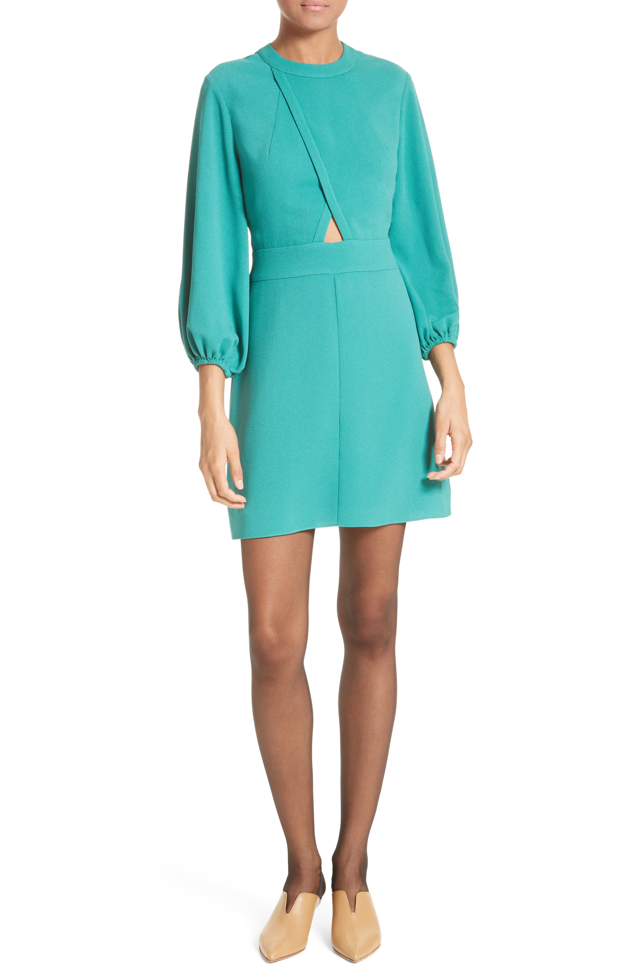Tibi Keyhole Detail Minidress