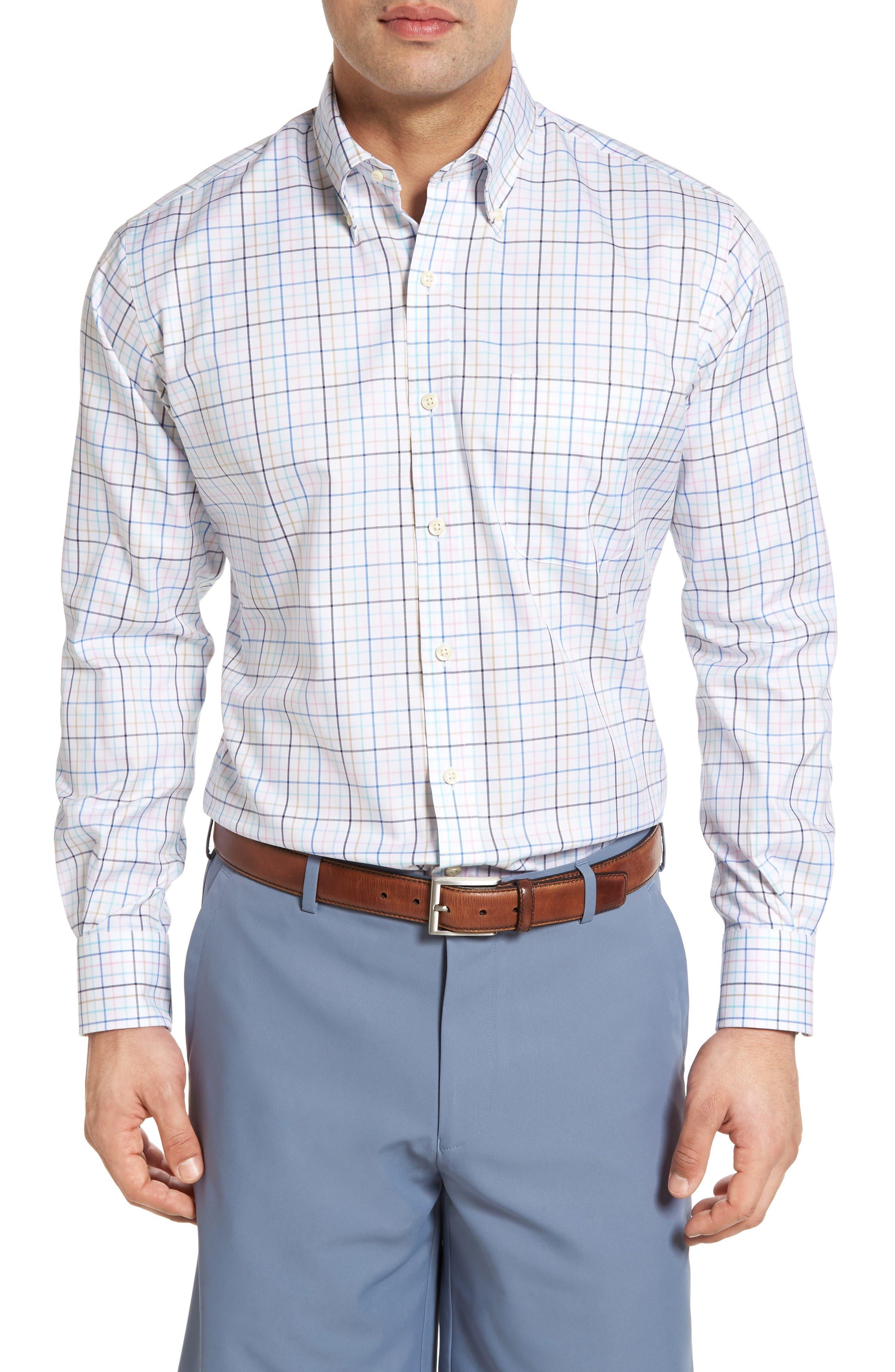 PETER MILLAR Multi Pinwheel Tattersall Sport Shirt