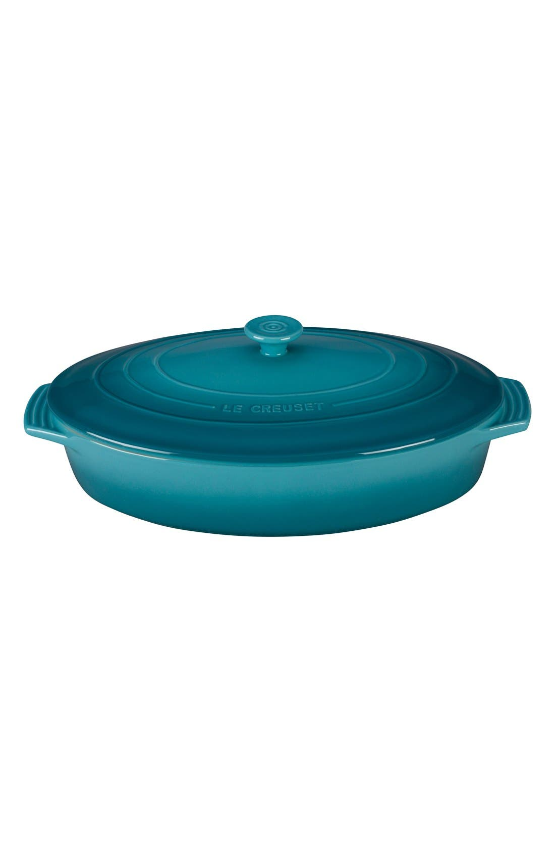 LE CREUSET 3 3/4 Quart Covered Oval Stoneware