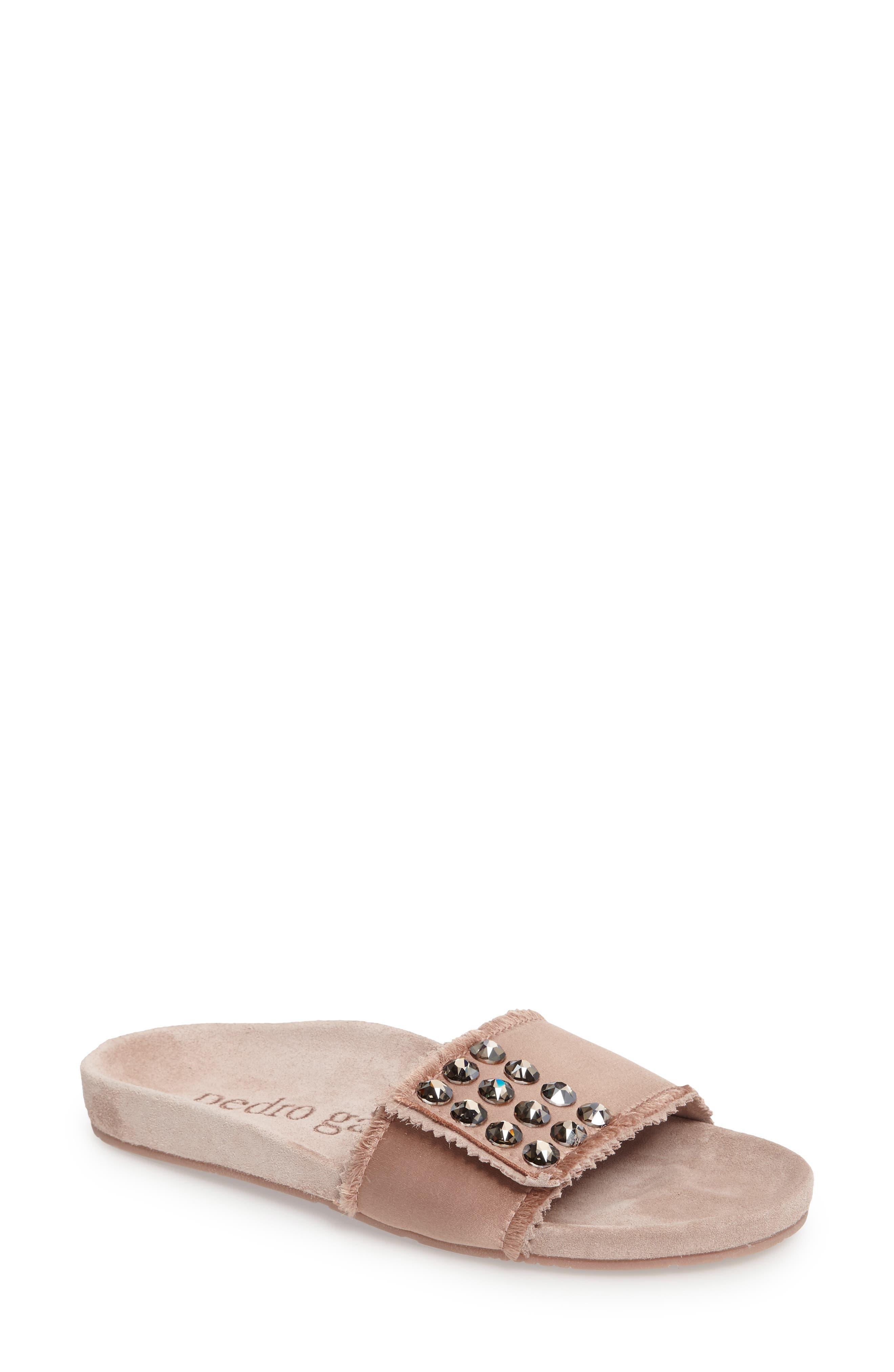 PEDRO GARCIA Arabella Crystal Slide Sandal