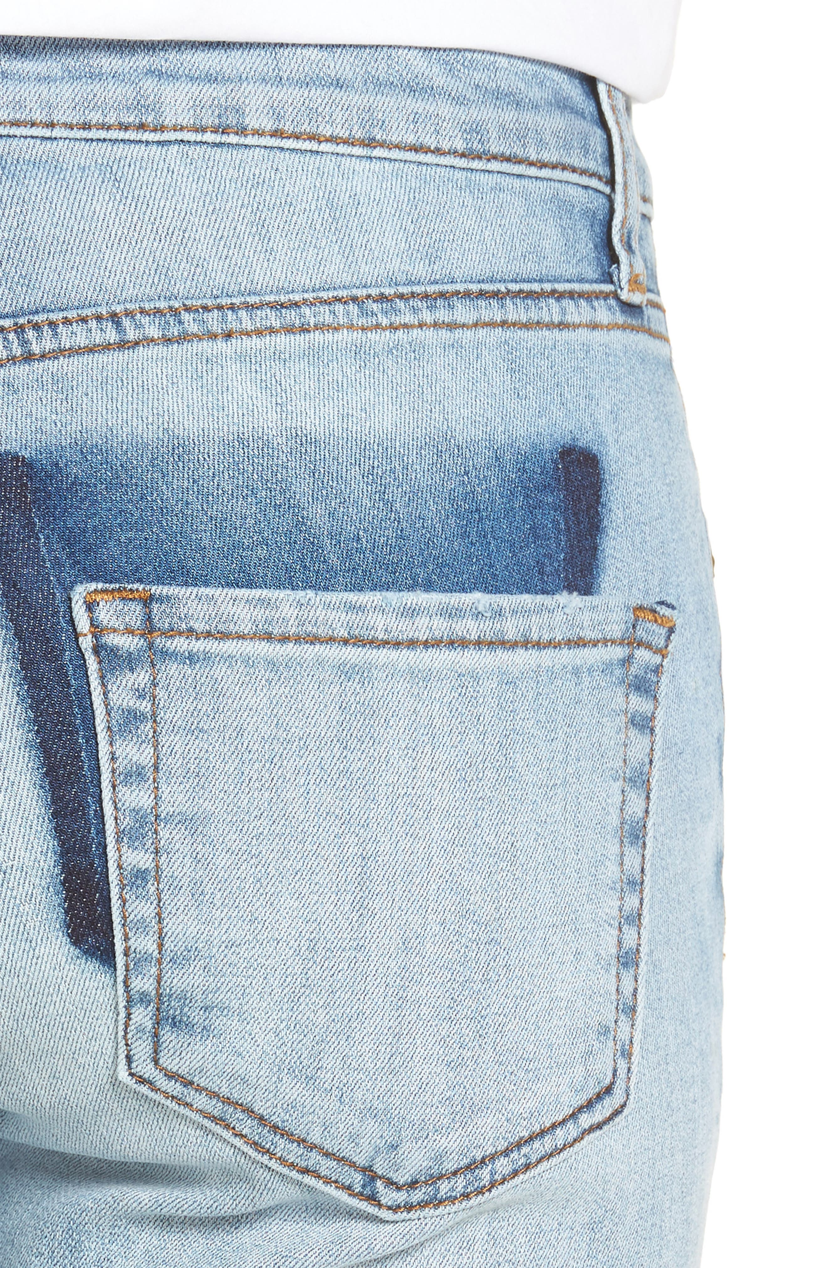 Alternate Image 4  - KUT from the Kloth Reese Stretch Ankle Straight Leg Jeans (Celebratory)