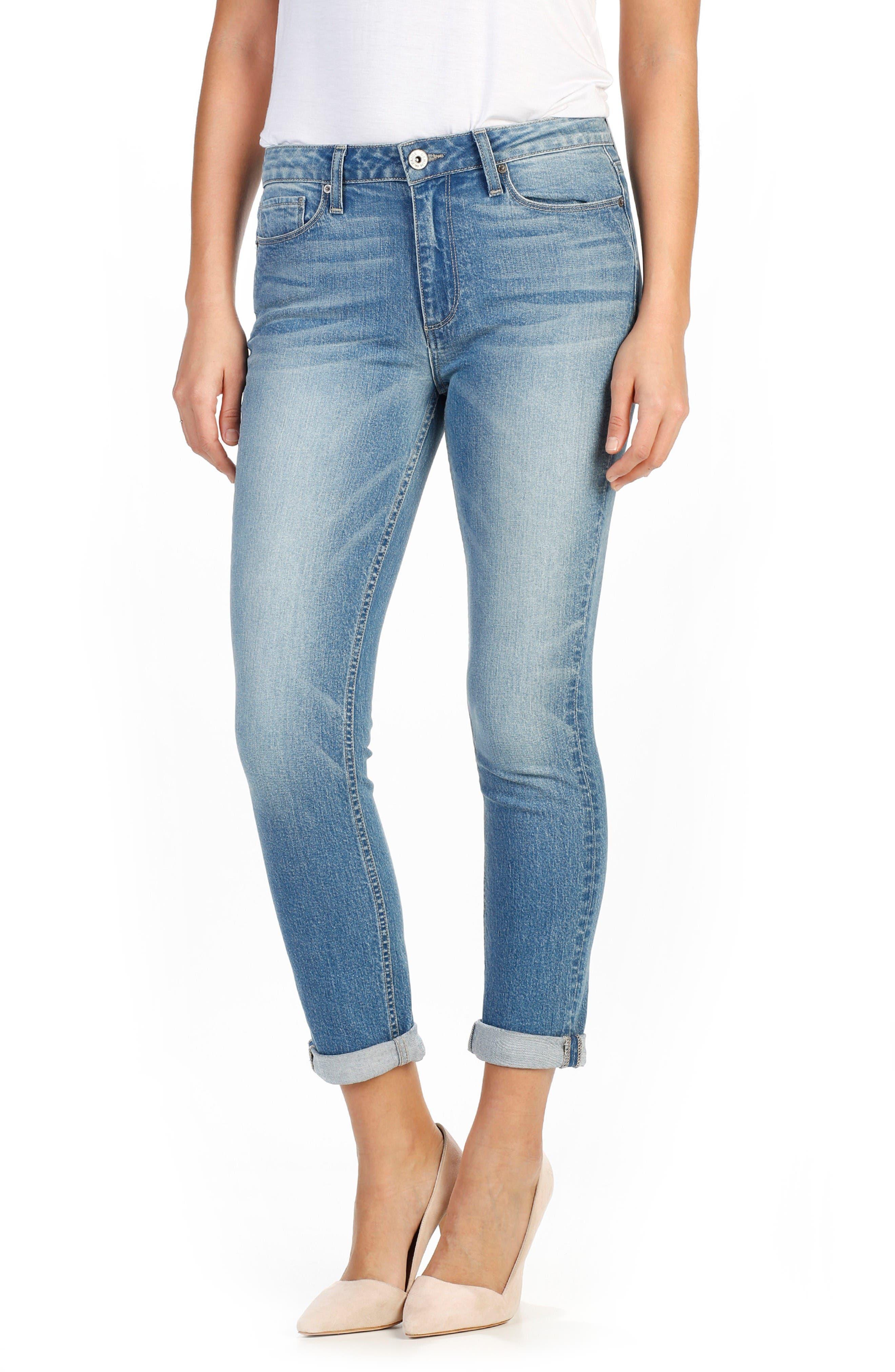 PAIGE Anabelle Crop Slim Boyfriend Jeans (Tayla)