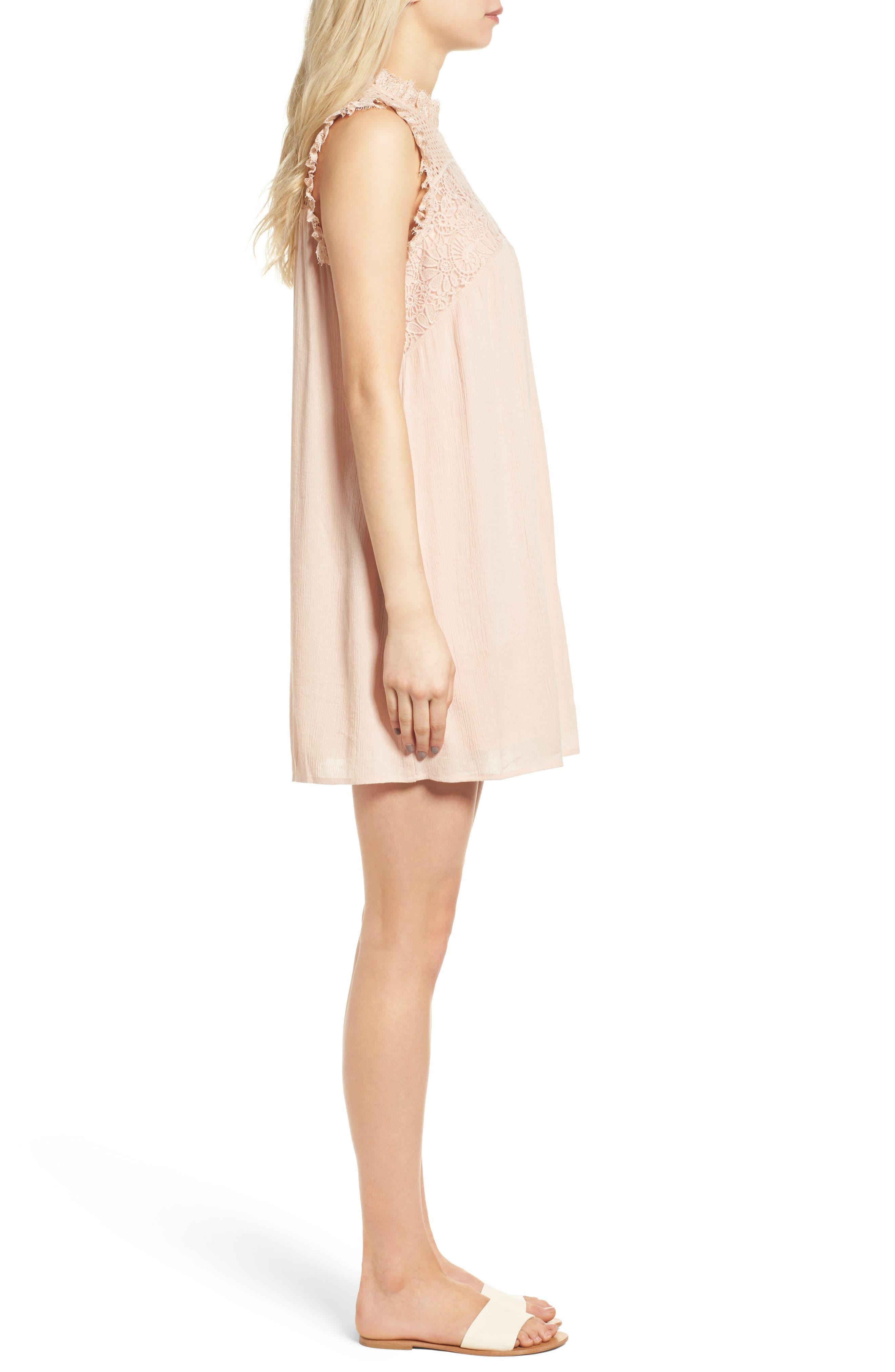 Alternate Image 3  - Hinge Lace Yoke Babydoll Dress