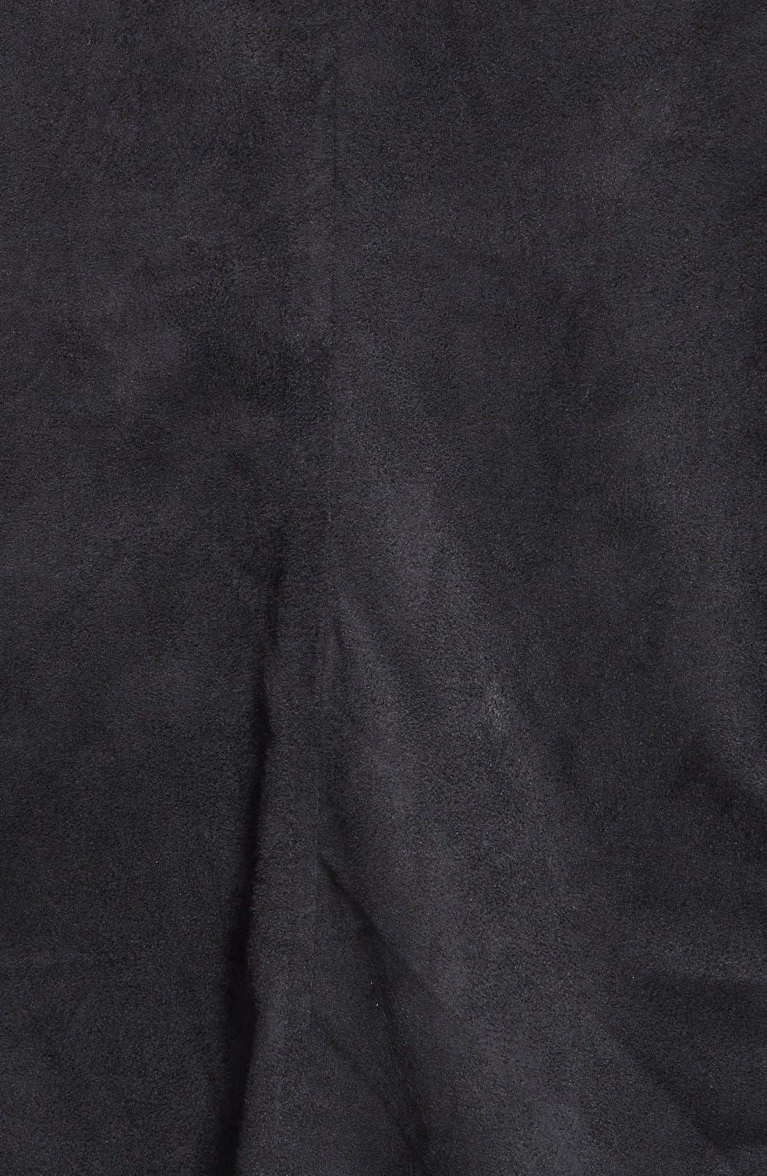 Alternate Image 3  - Jessica Simpson 'Altmar' Faux Suede Asymmetrical Zip Jacket (Plus Size)