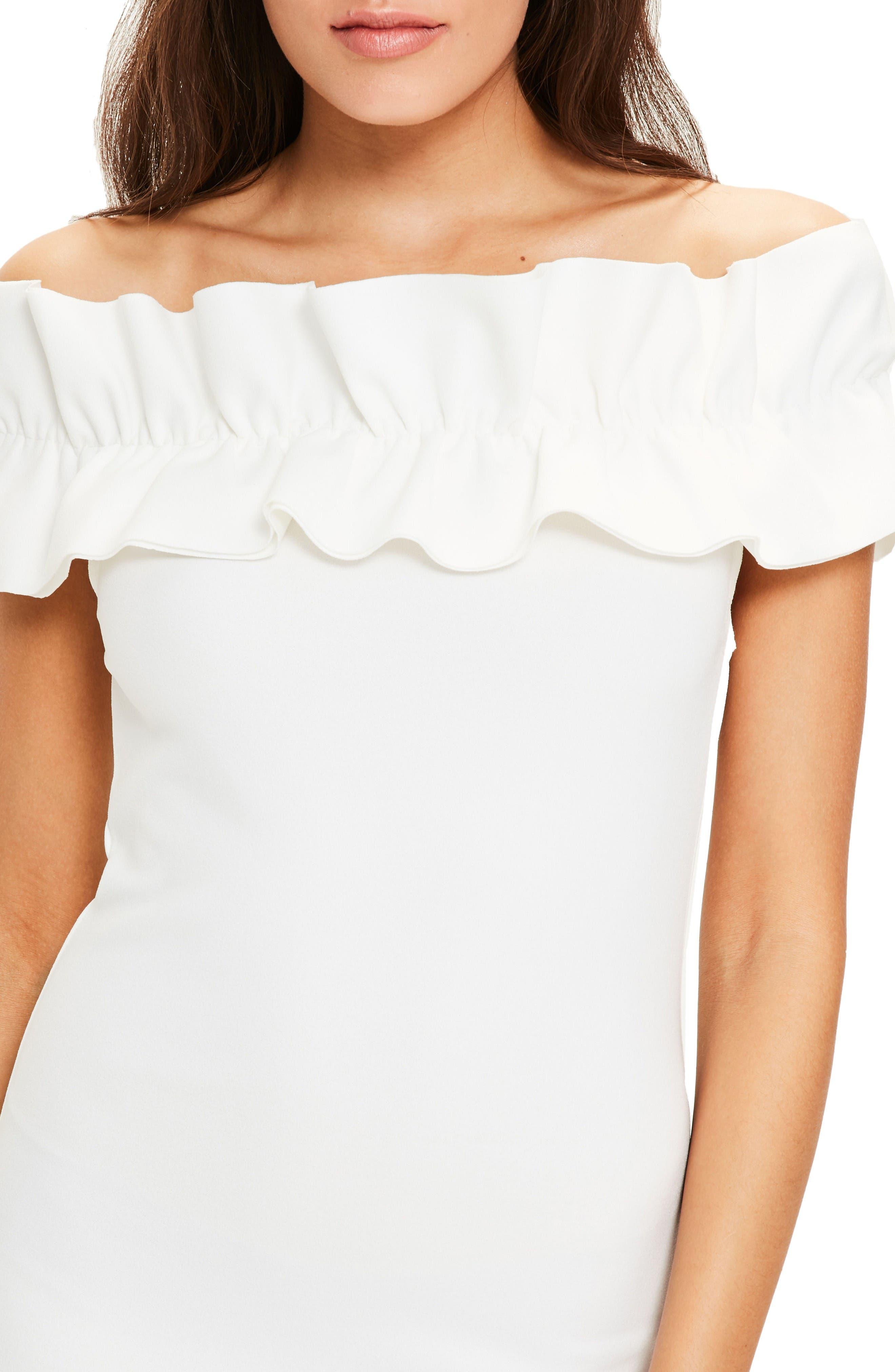 Alternate Image 4  - Missguided Bardot Off the Shoulder Dress