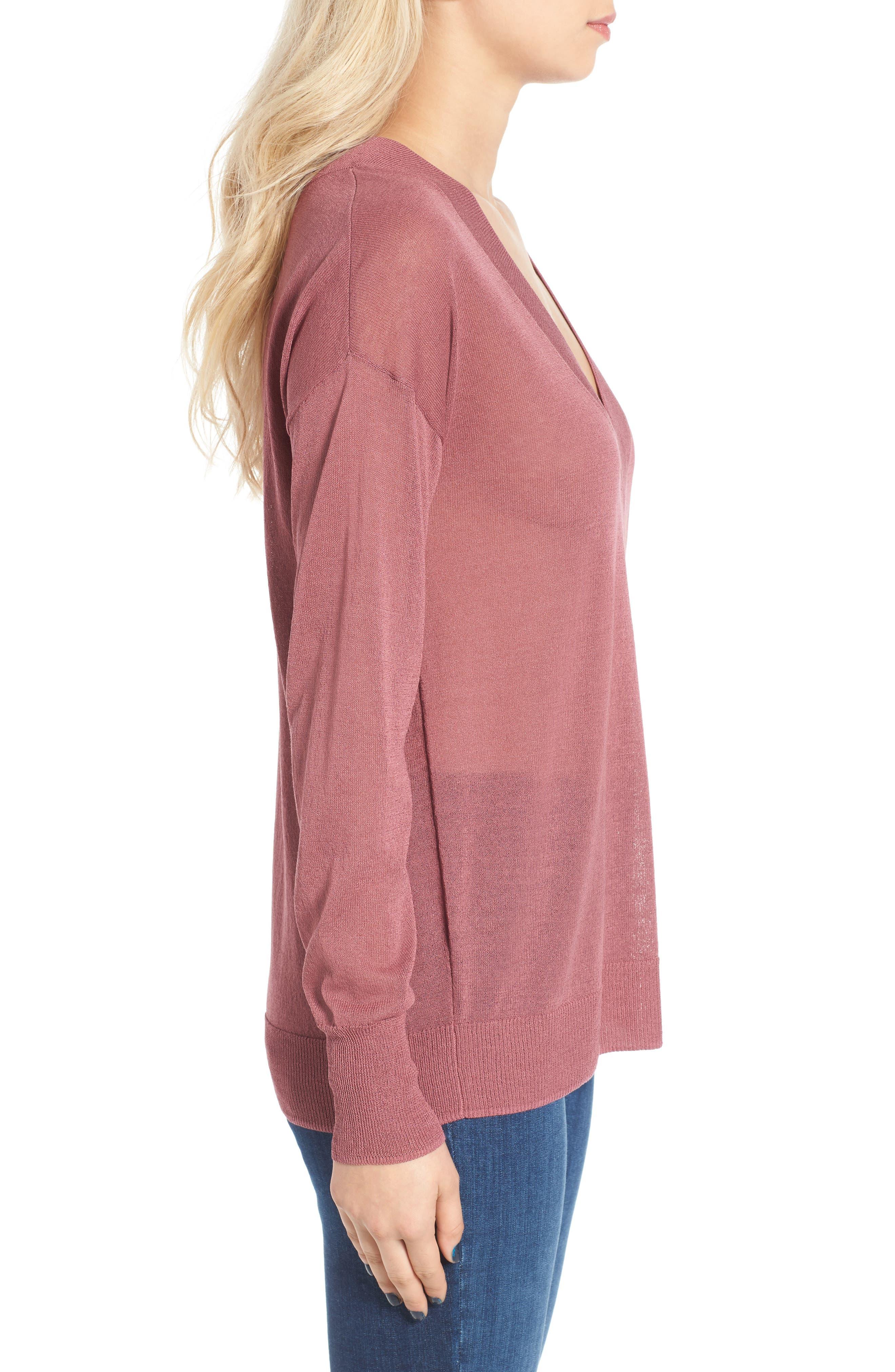 Alternate Image 3  - Leith Sheer V-Neck Sweater