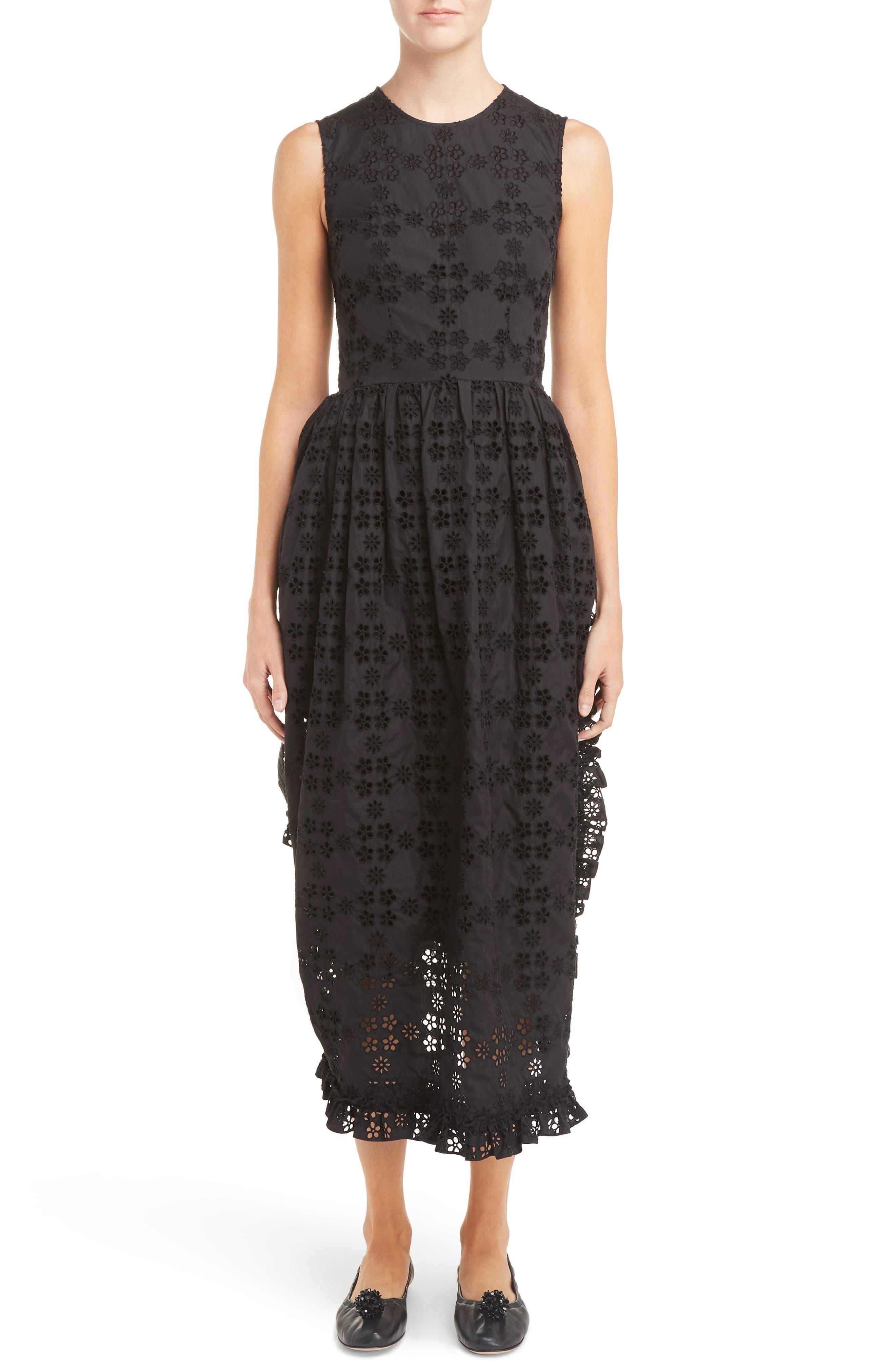 Alternate Image 1 Selected - Simone Rocha Eyelet Frill Dress