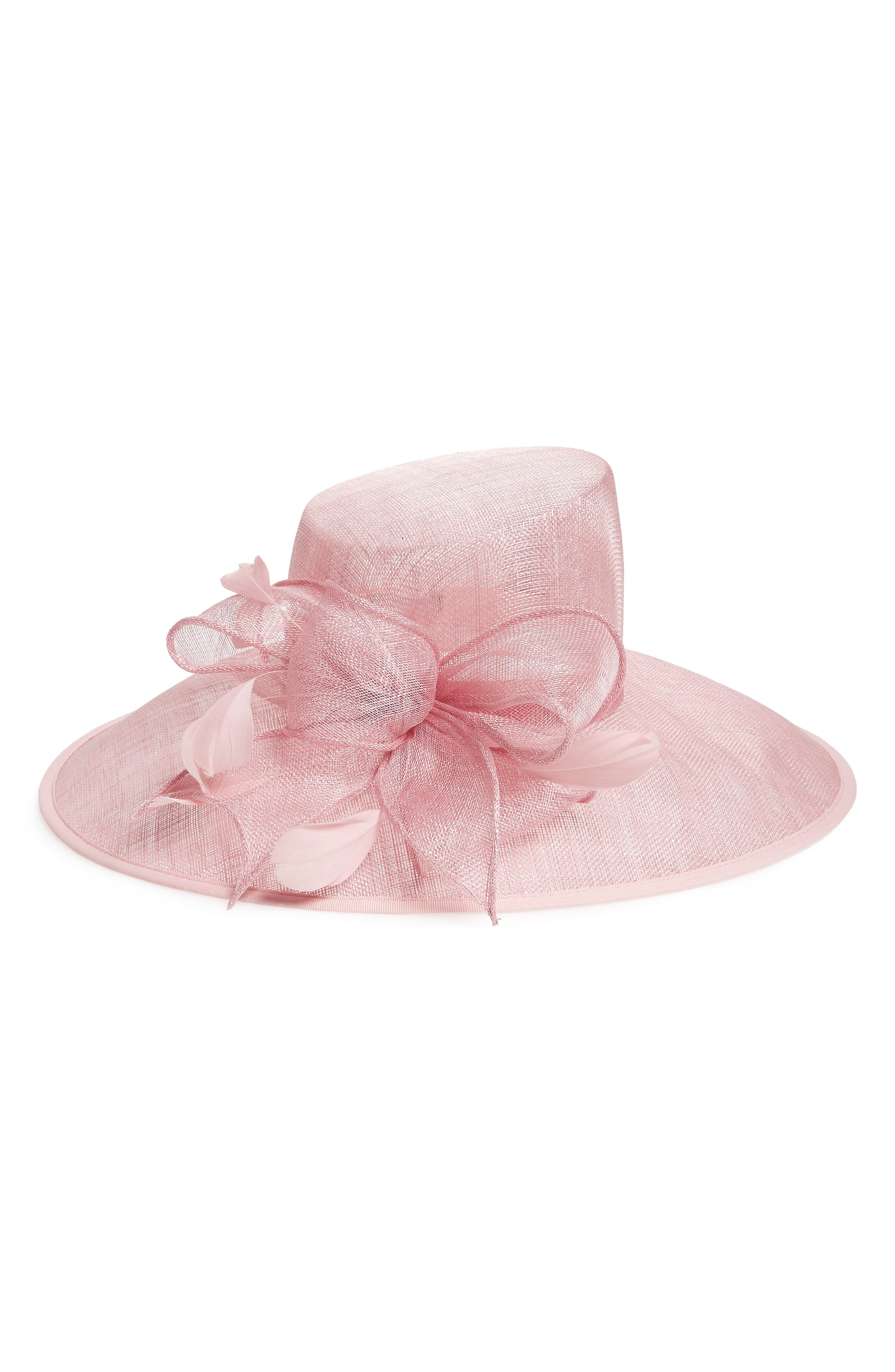 Nordstrom Asymmetrical Sinamay Derby Hat