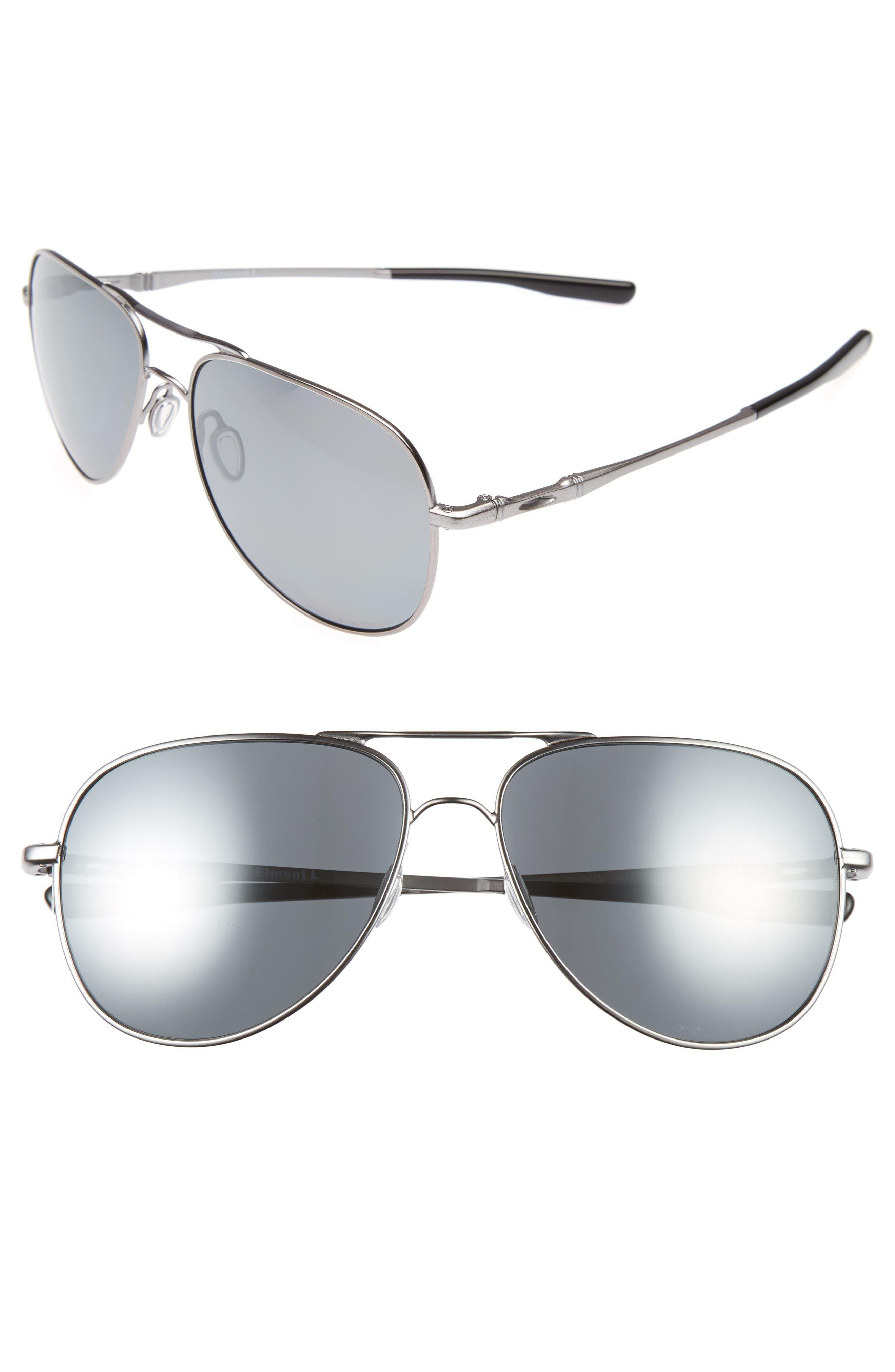 Oakley Elmont 60mm Polarized Aviator Sunglasses