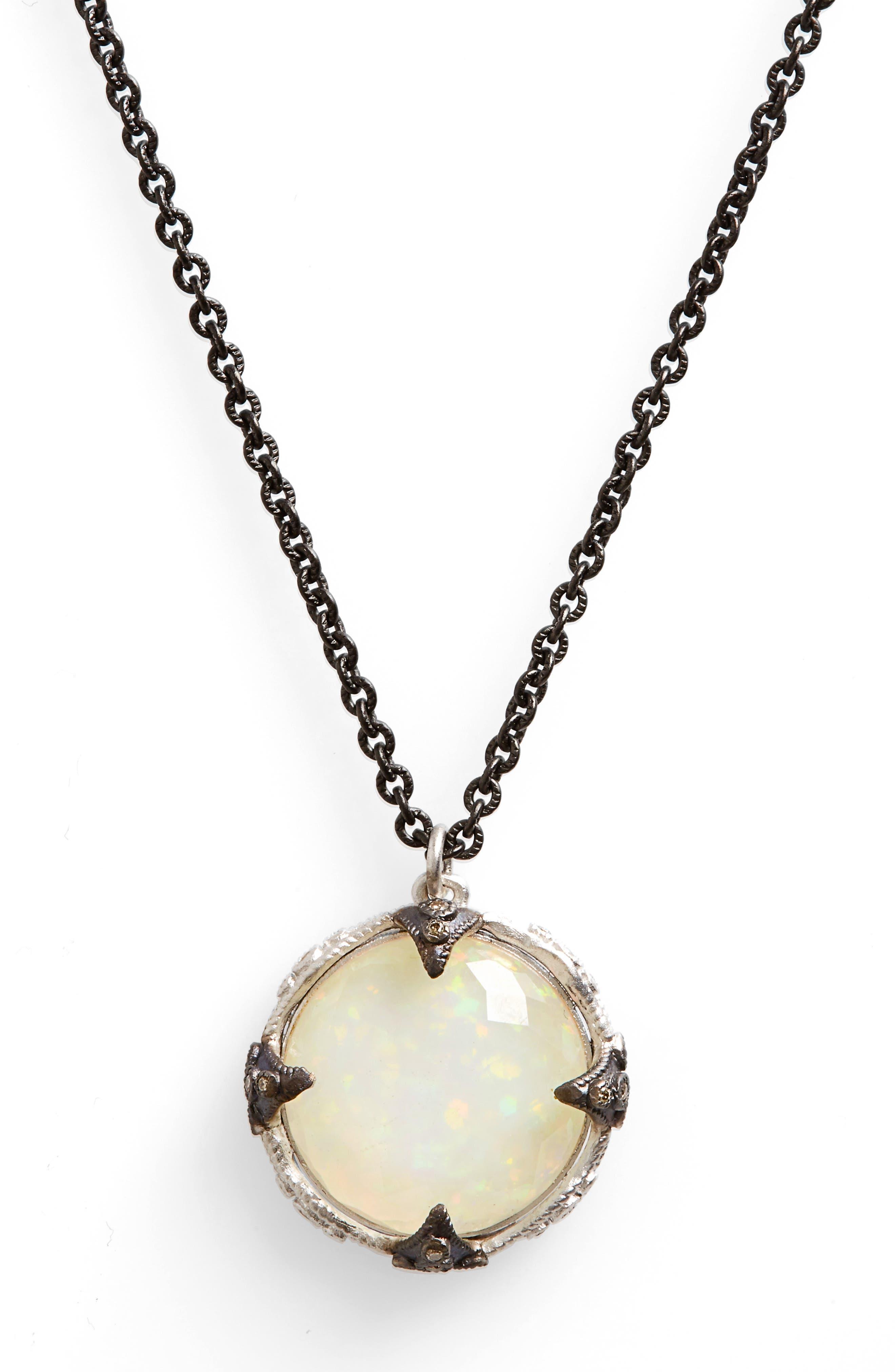 Armenta New World Crivelli Opal Pendant Necklace