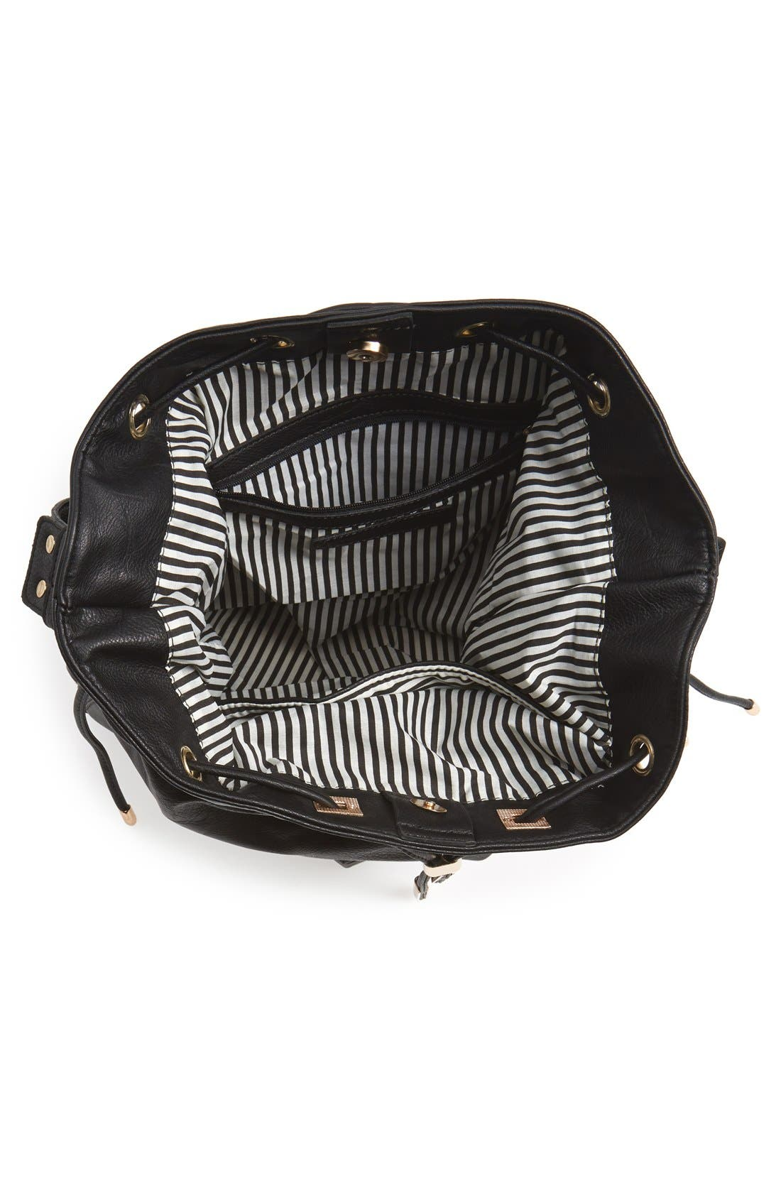 Alternate Image 4  - Sole Society 'Logan' Faux Leather Bucket Bag