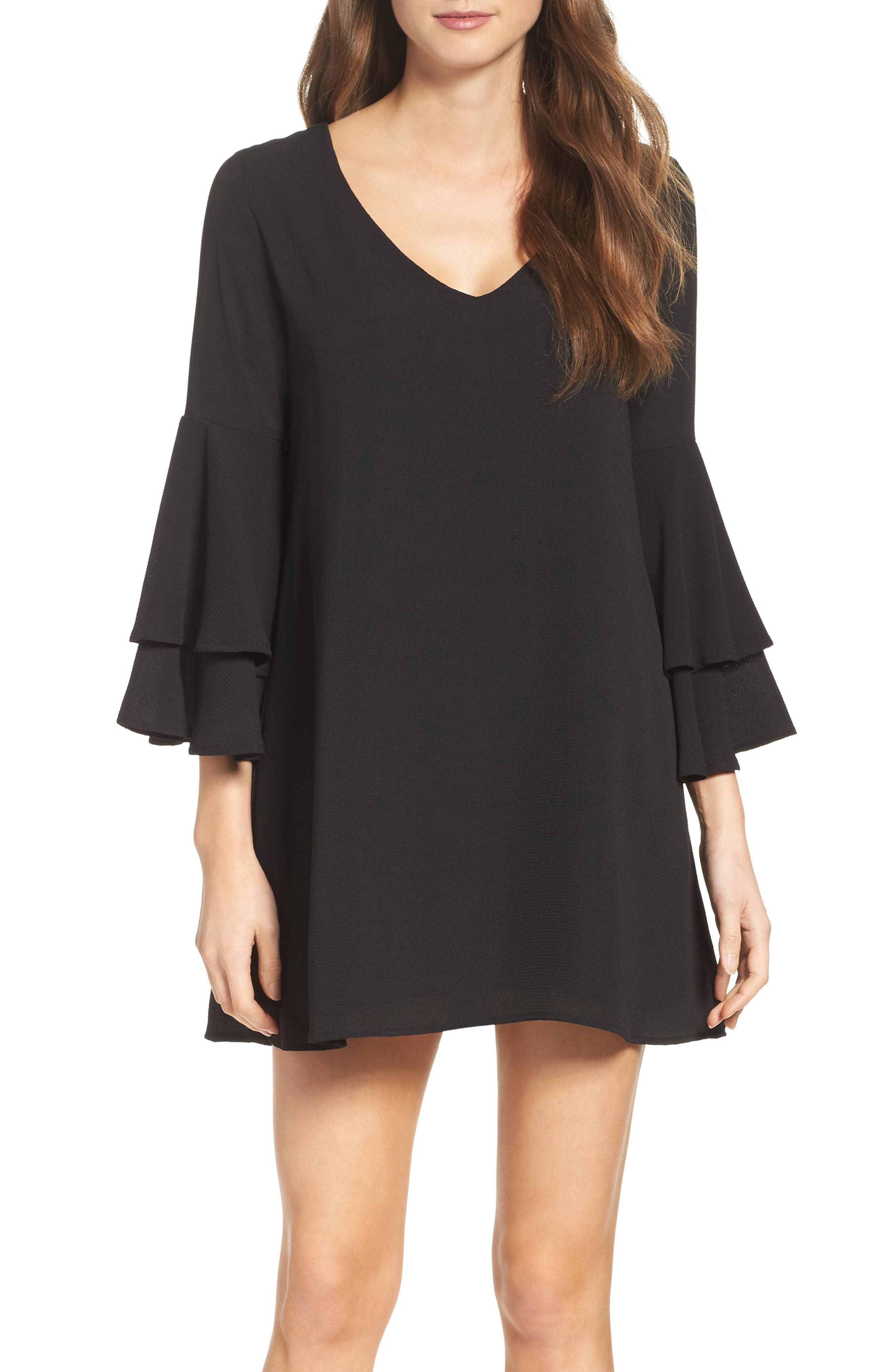 Main Image - Mary & Mabel Bell Sleeve Dress