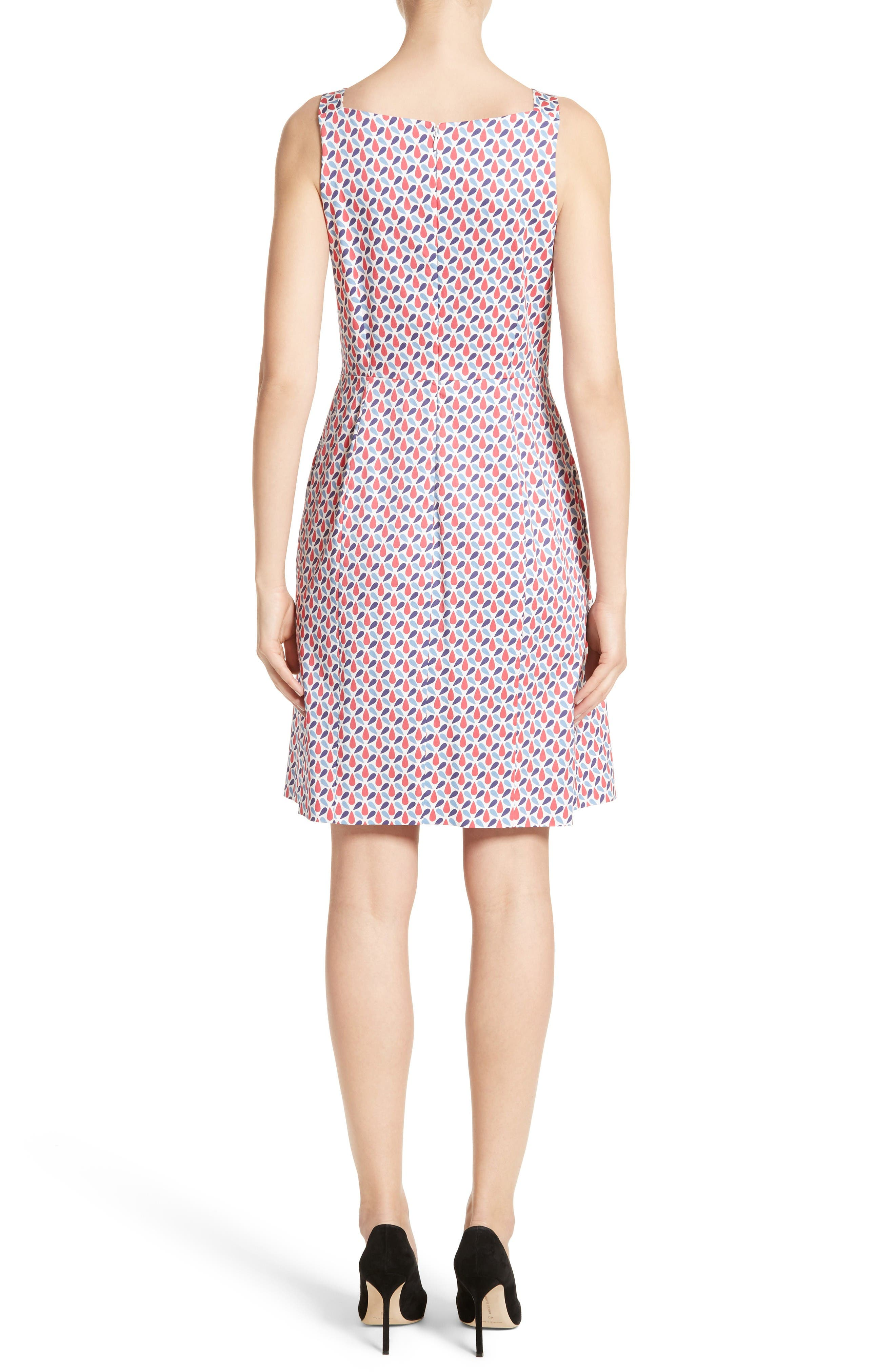 Alternate Image 2  - Armani Collezioni Print Cotton Fit & Flair Dress