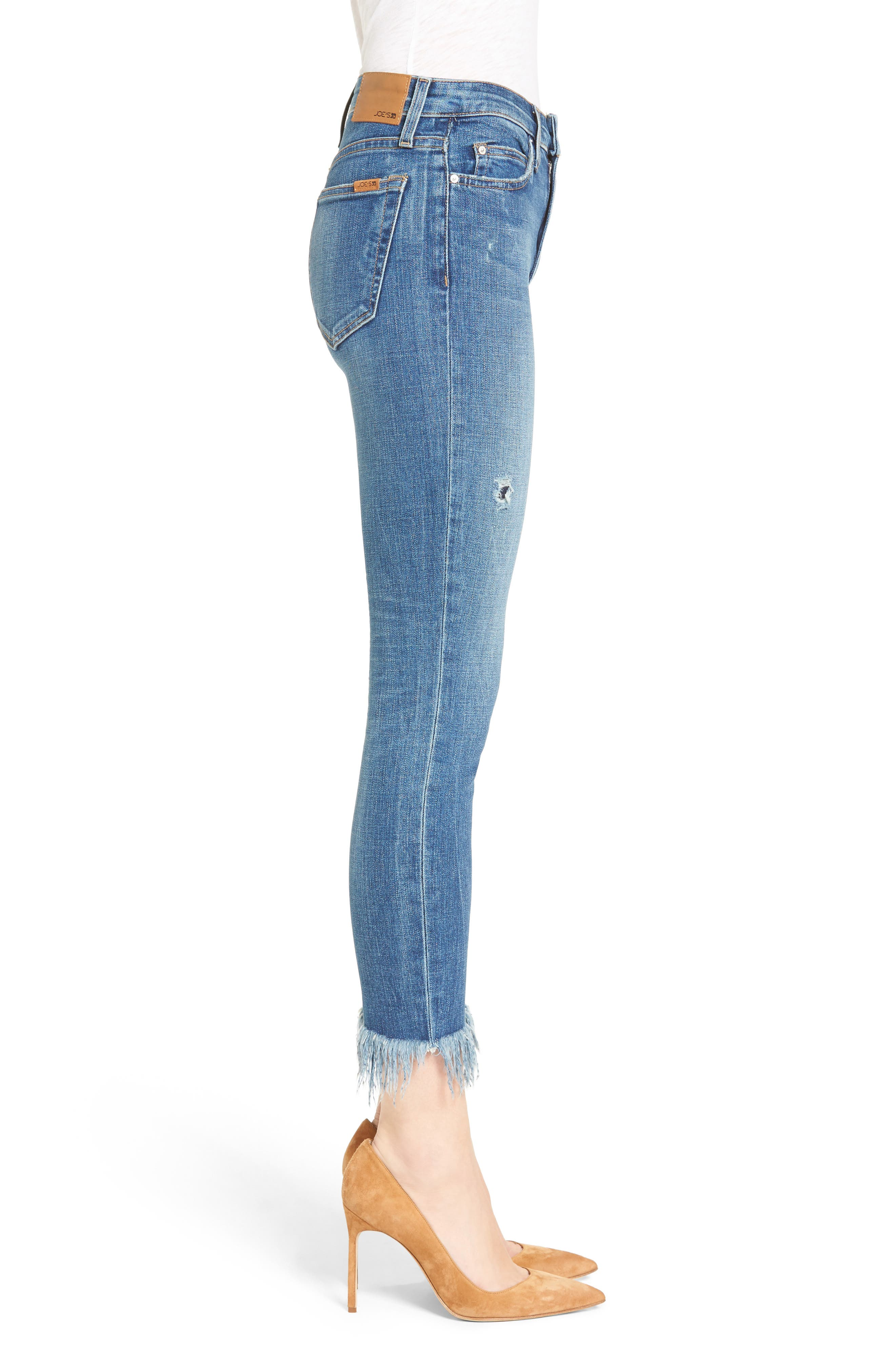 Alternate Image 4  - Joes Charlie High Rise Crop Skinny Jeans (Nala)