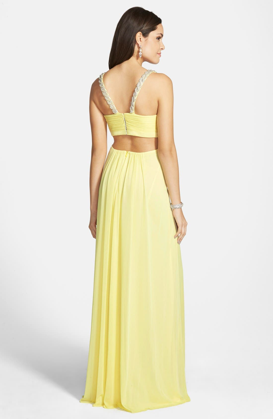 Alternate Image 2  - Xscape Embellished Jersey Gown