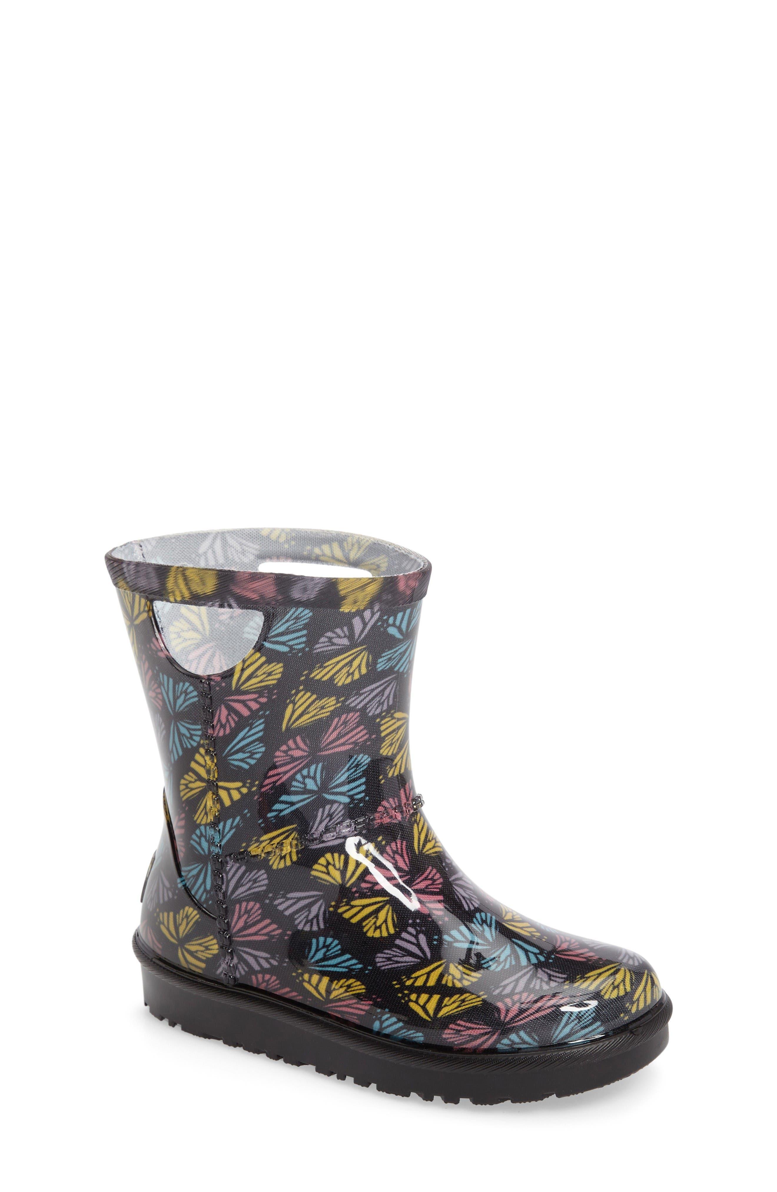 UGG® Rahjee Butterflies Rain Boot (Walker & Toddler)