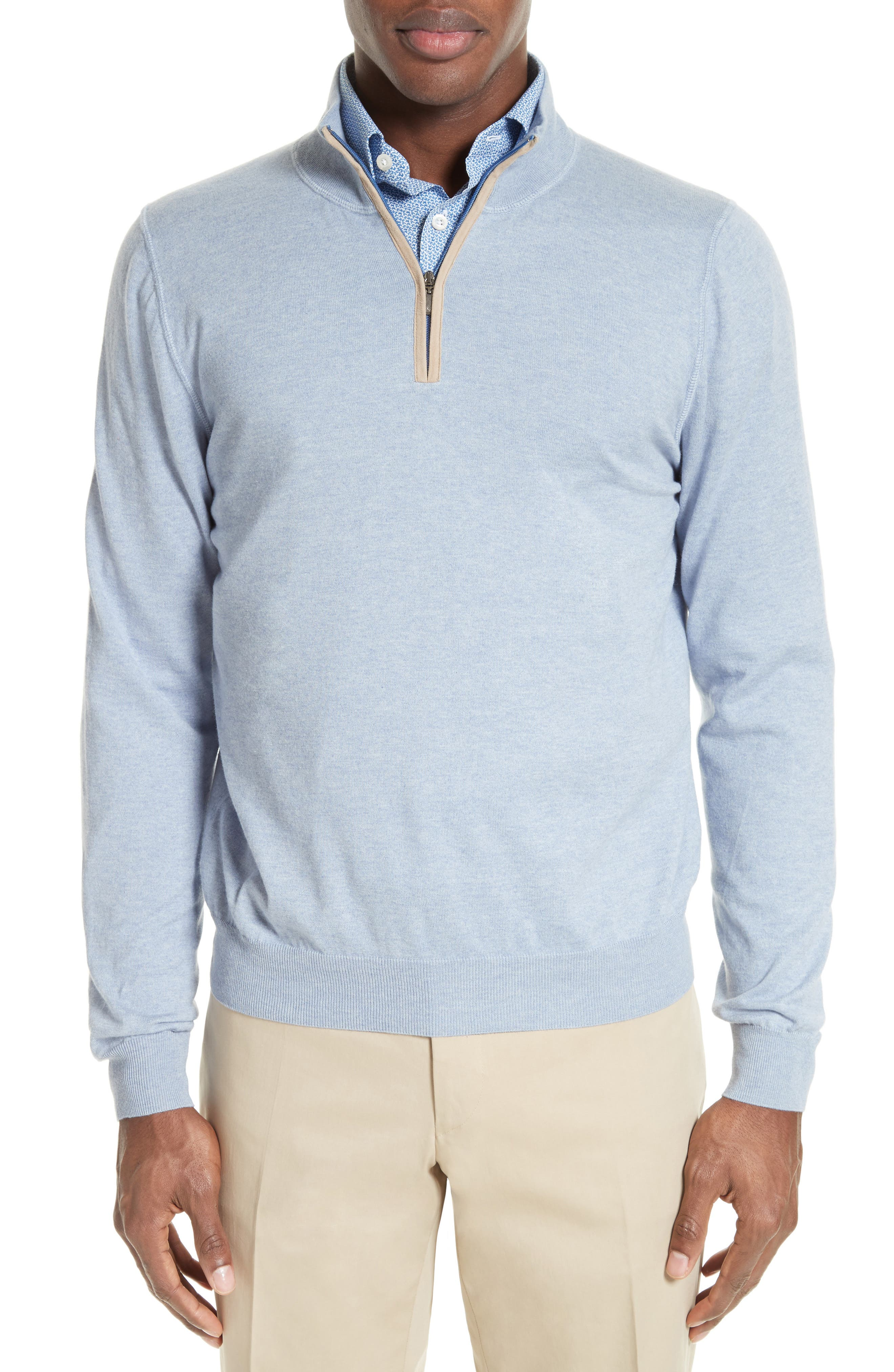 CANALI Quarter Zip Sweater