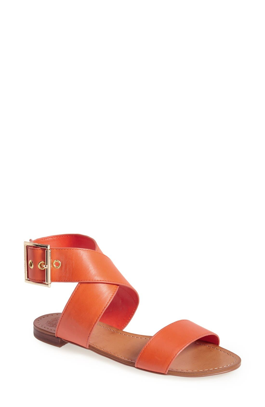 Alternate Image 1 Selected - Vince Camuto 'Maren' Leather Ankle Strap Sandal (Women)