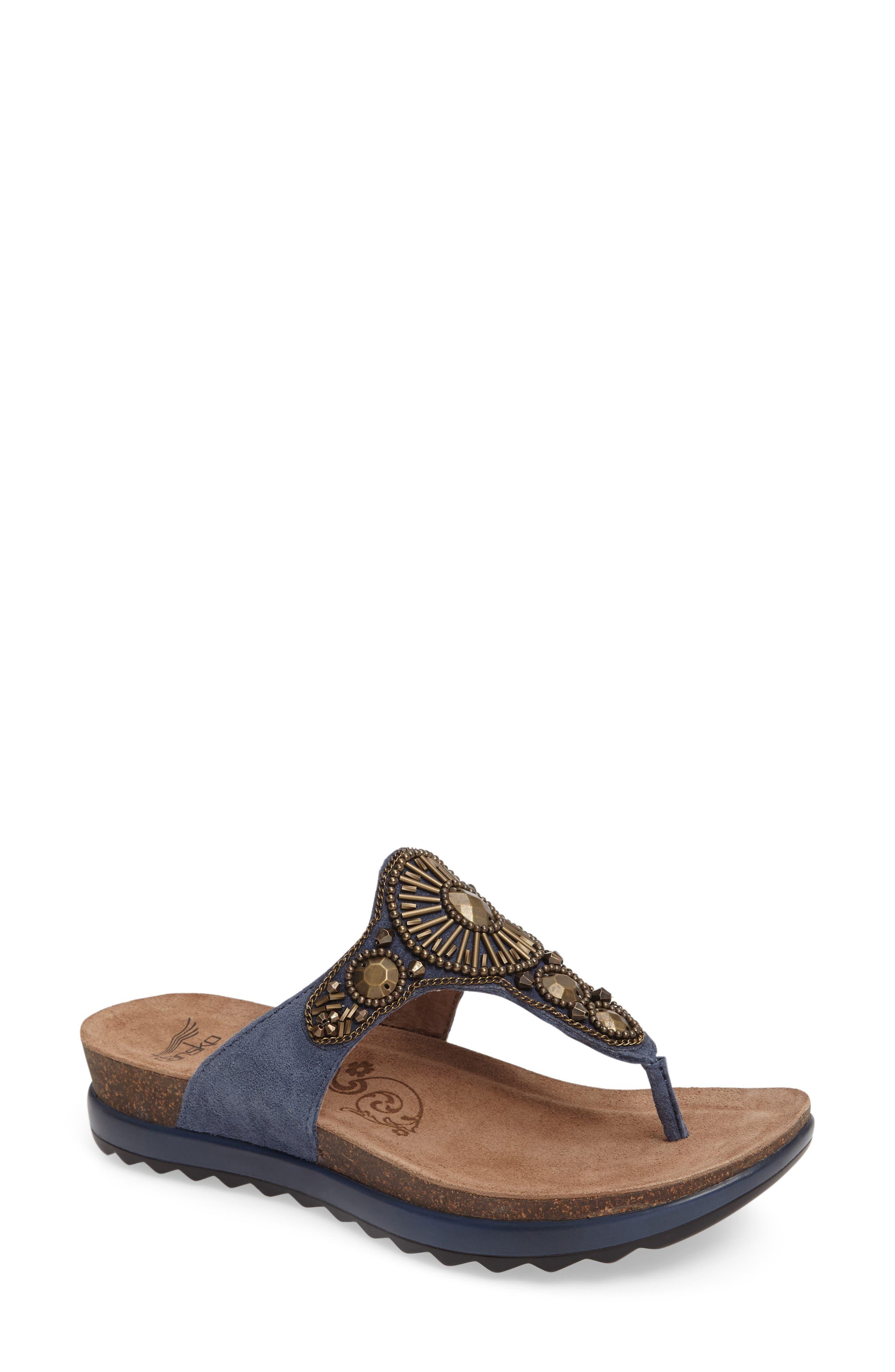 Dansko 'Pamela' Embellished Sandal (Women)