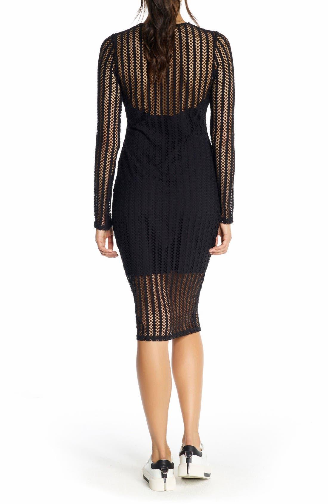 Alternate Image 2  - KENDALL + KYLIE Lattice Jersey Dress