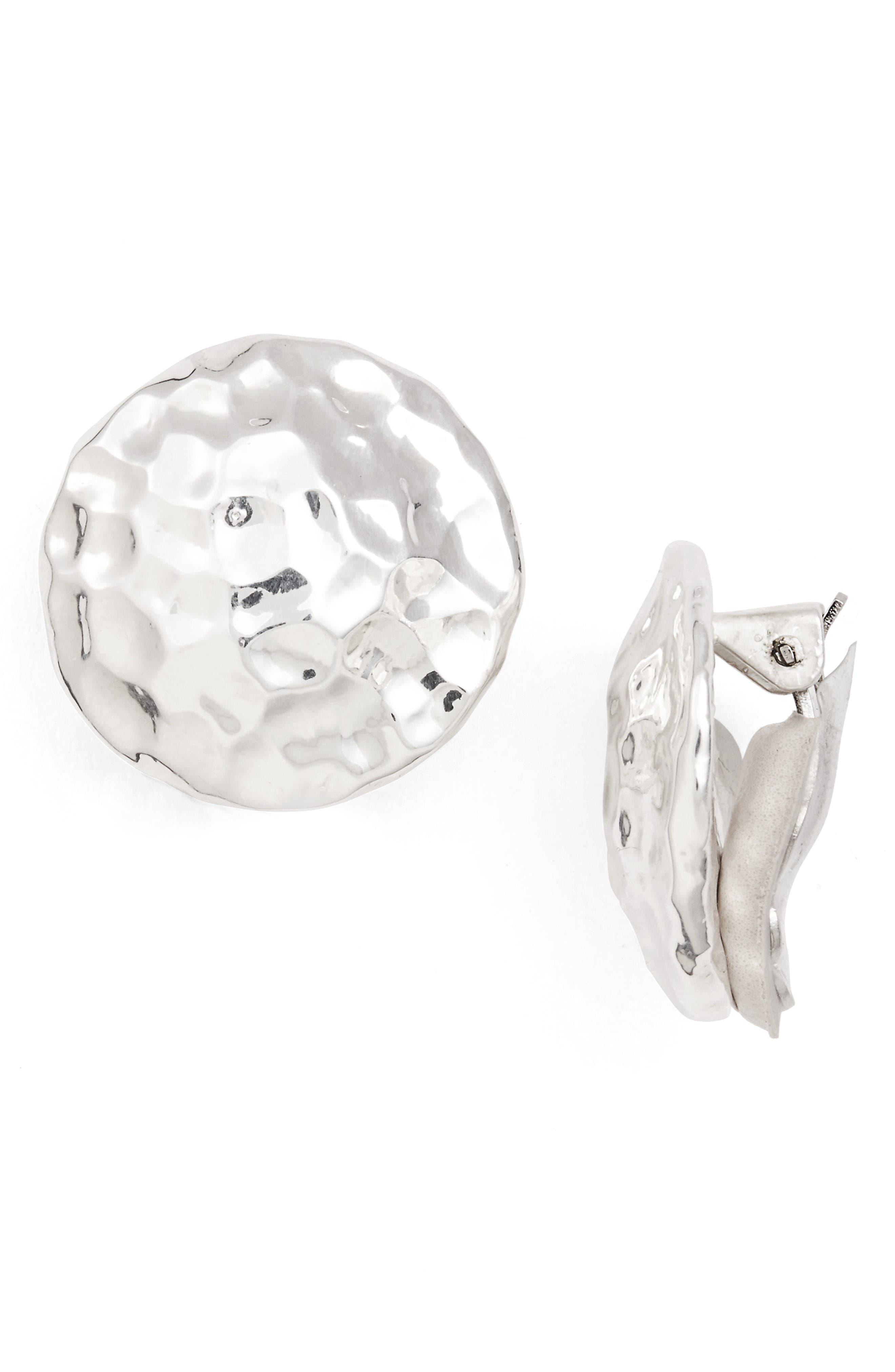 SIMON SEBBAG Hammered Circle Clip Earrings