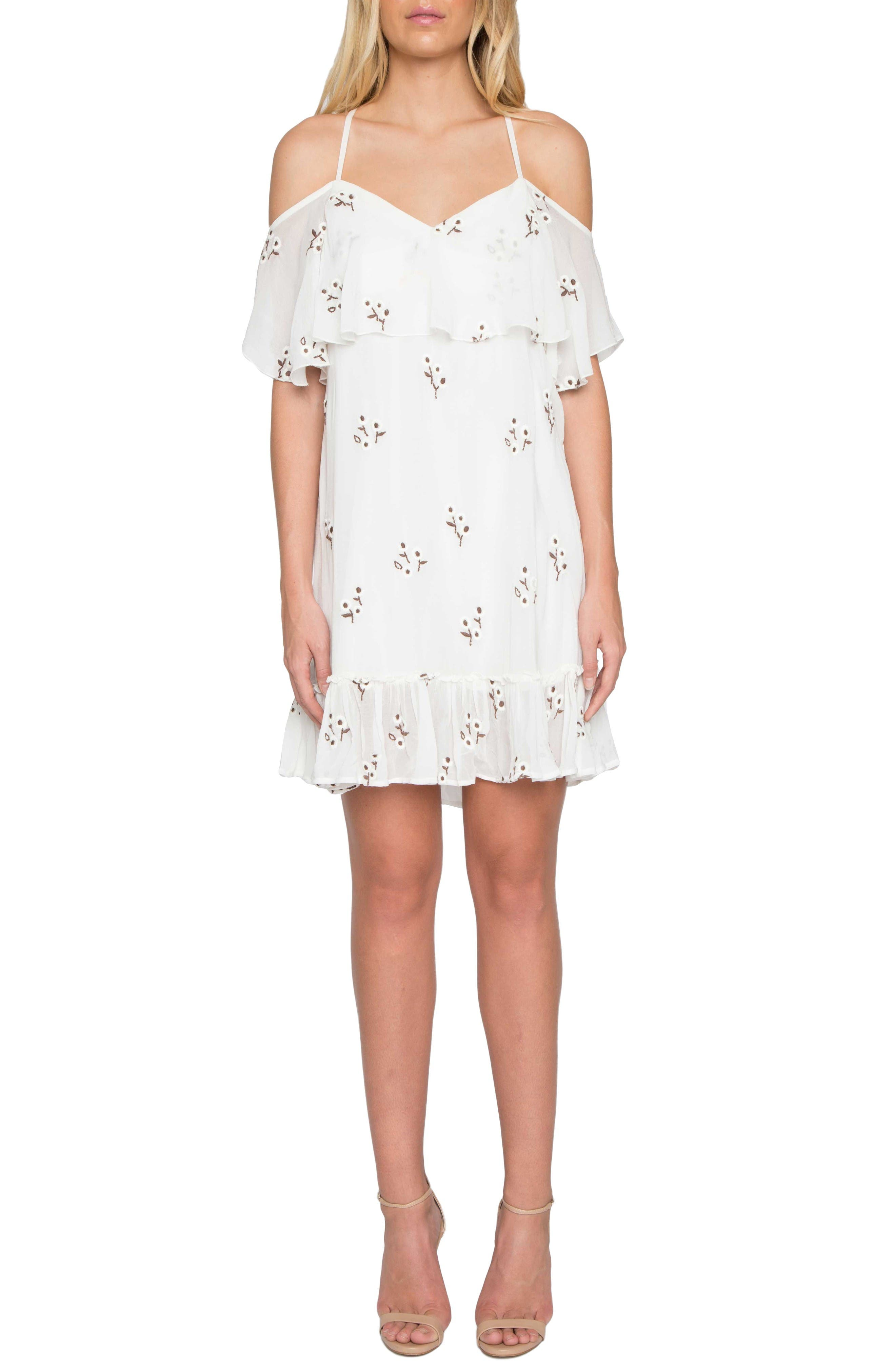Willow & Clay Embroidered Off the Shoulder Dress