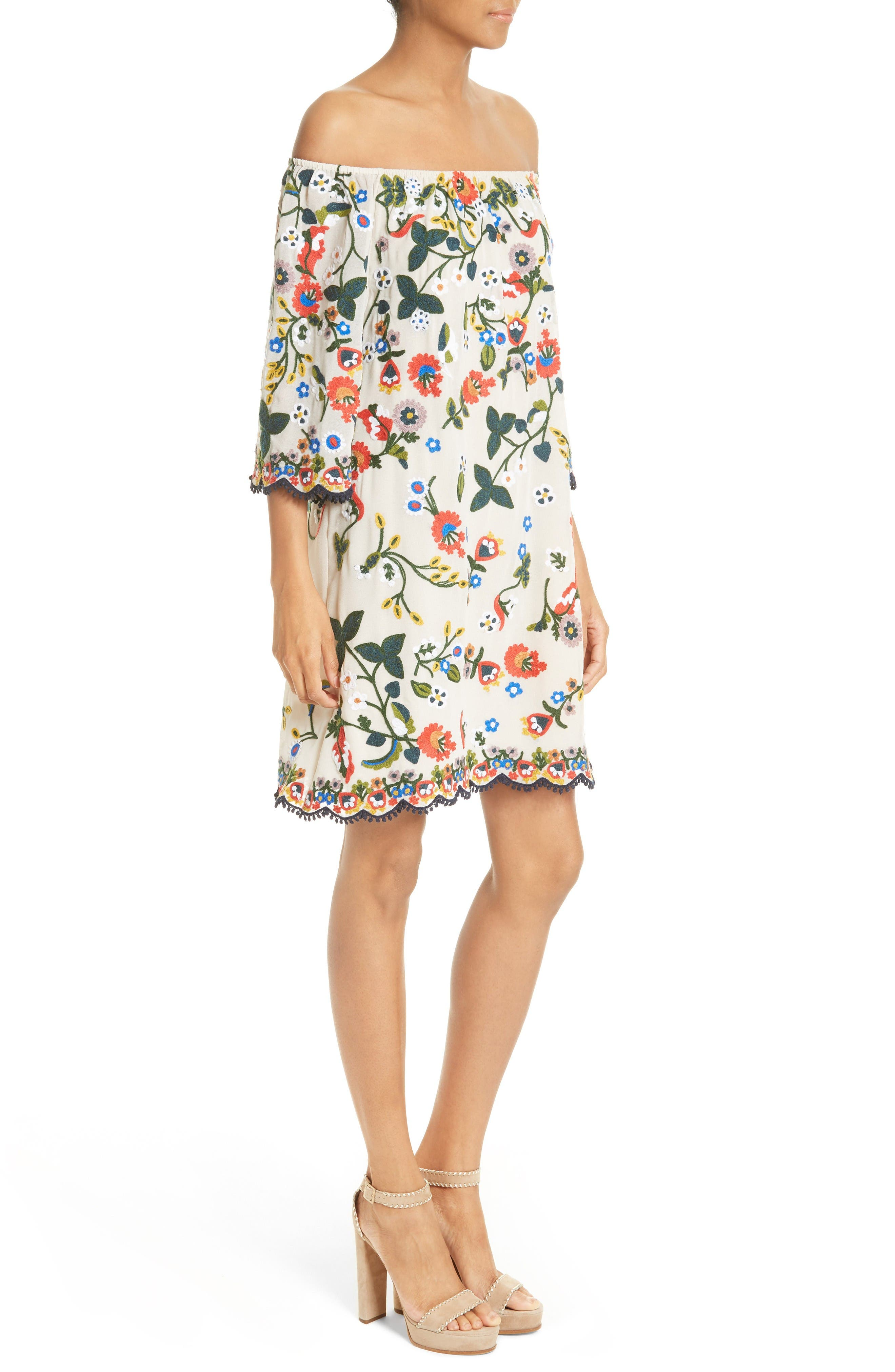 Alternate Image 3  - Alice + Olivia Christiana Off the Shoulder Shift Dress