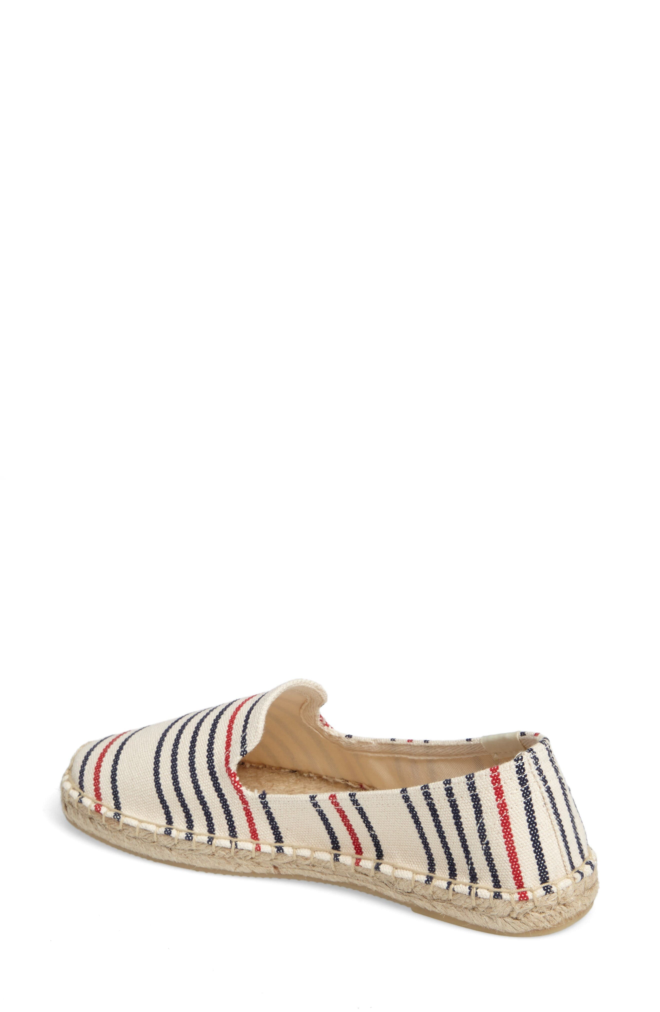 Alternate Image 2  - Soludos Stripe Espadrille Loafer (Women)