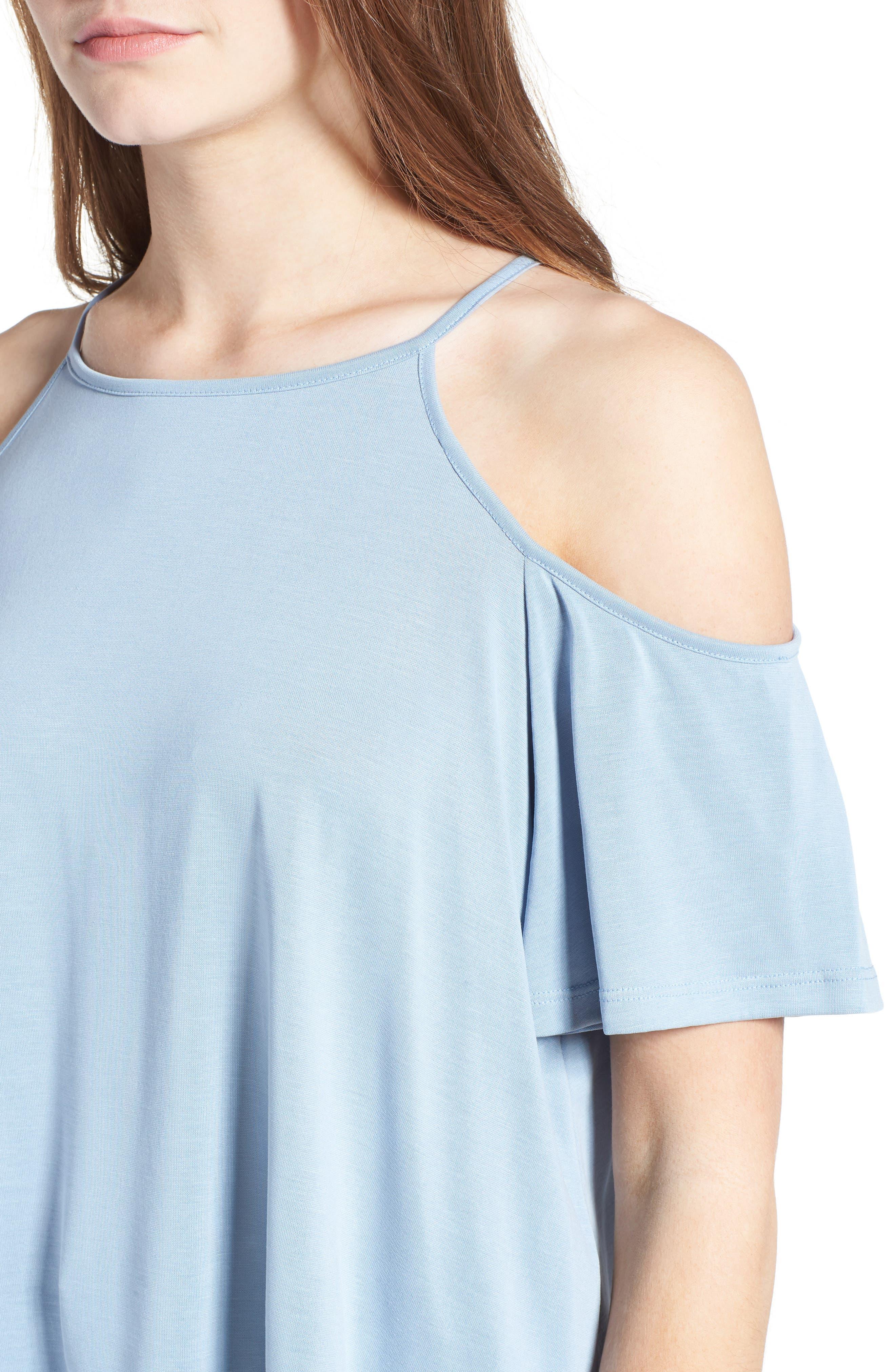 Alternate Image 4  - Lush Cold Shoulder Top