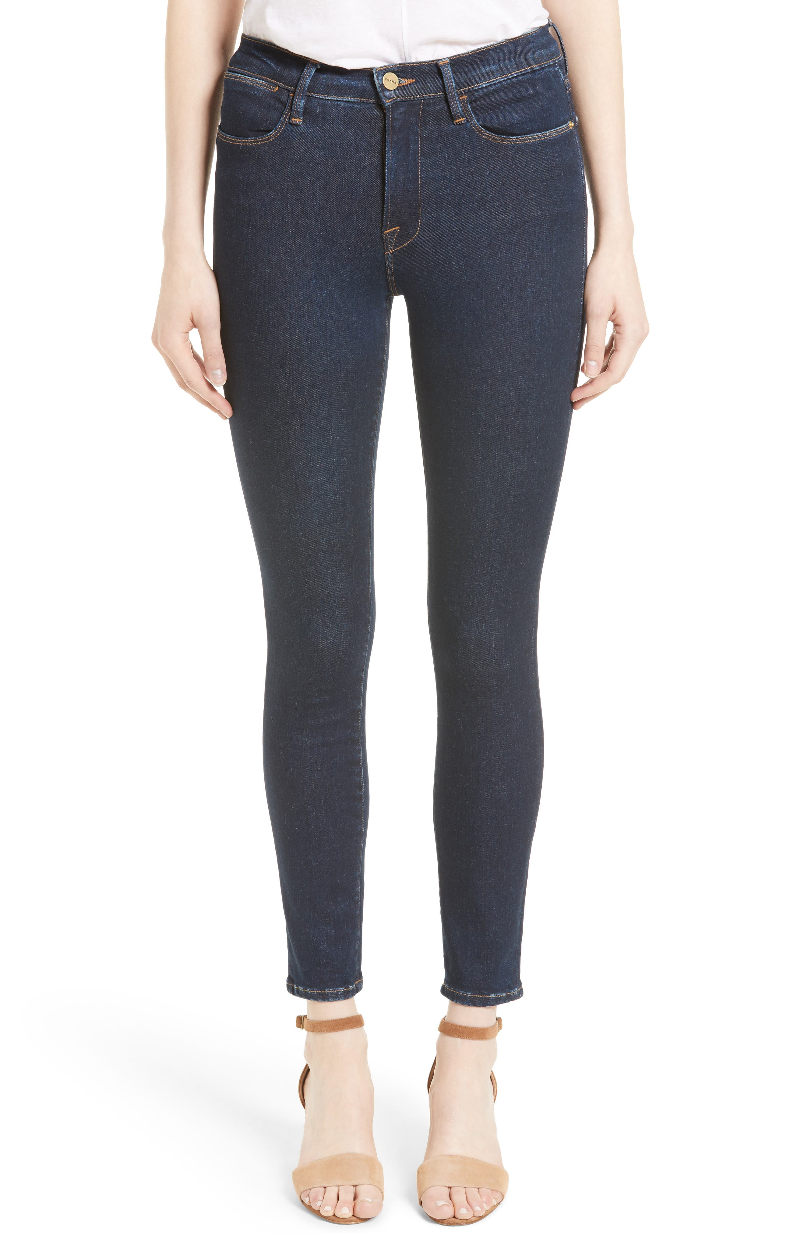 FRAME Le High Skinny Jeans (Grove Street) (Nordstrom Exclusive)