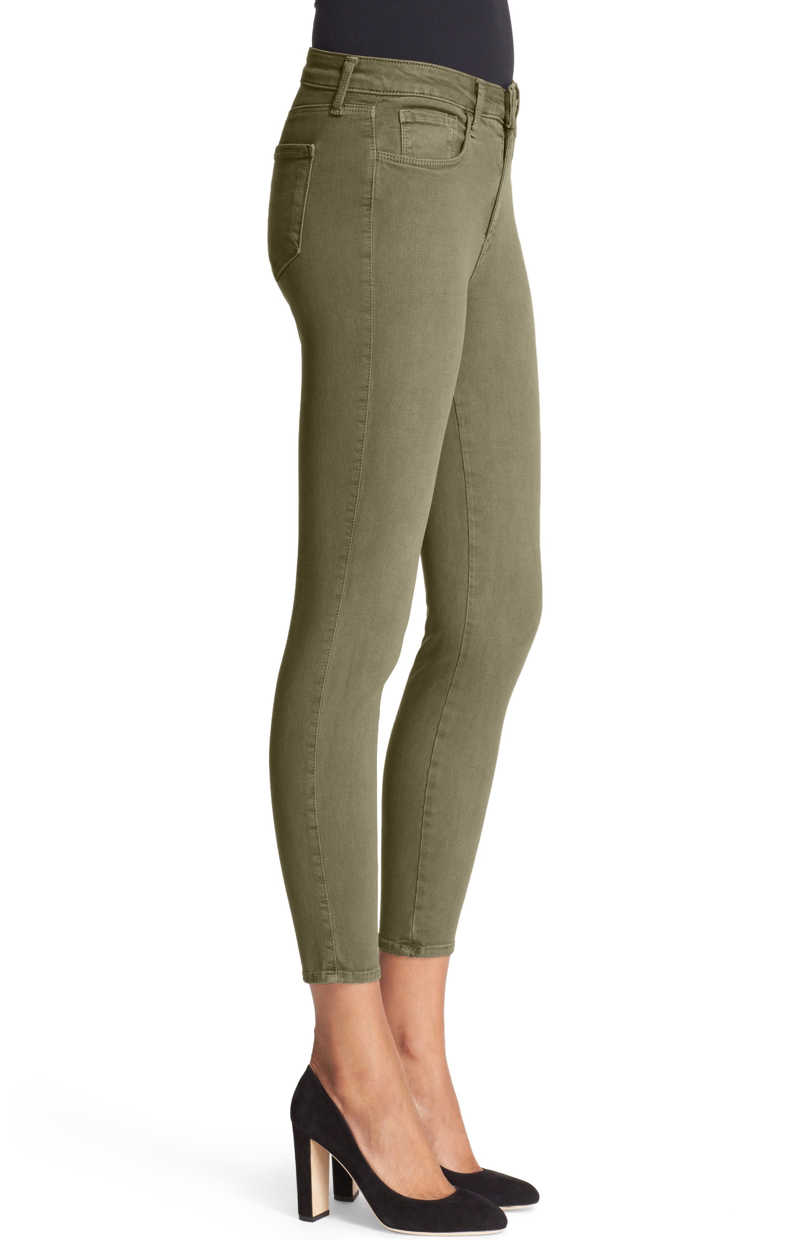 Alternate Image 3  - L'AGENCE High Waist Skinny Ankle Jeans