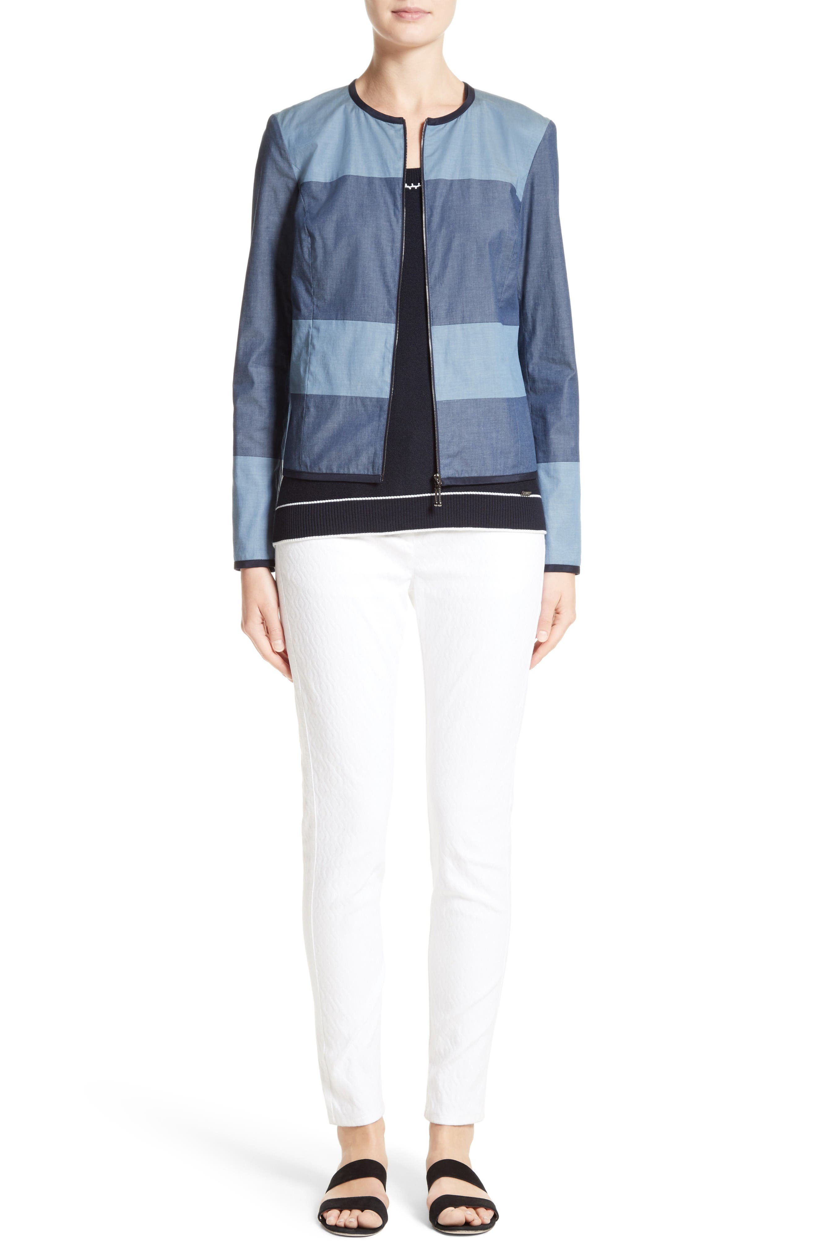 St. John Collection Jacket, Shell & Jeans Outfit with Accessories