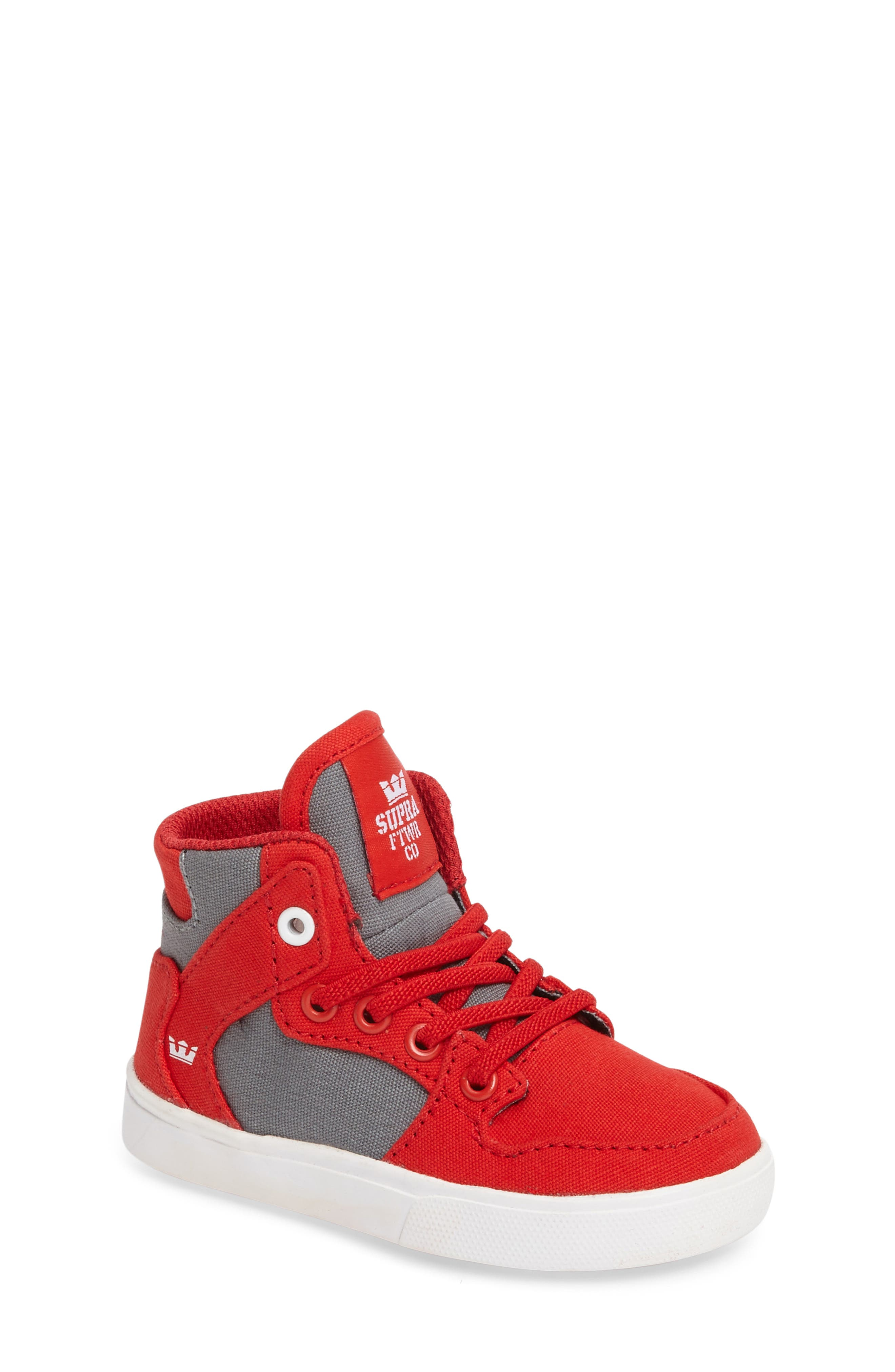 Supra 'Vaider' High Top Sneaker (Walker & Toddler)