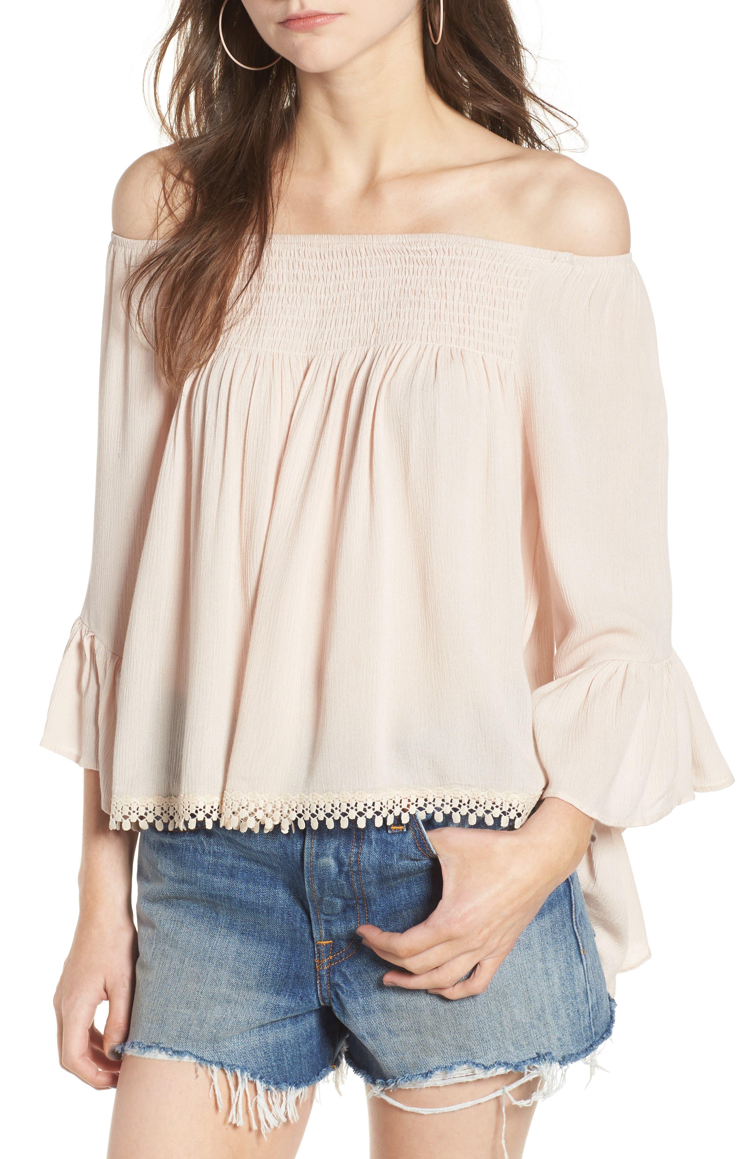 Alternate Image 1 Selected - Raga Anne Off the Shoulder Blouse