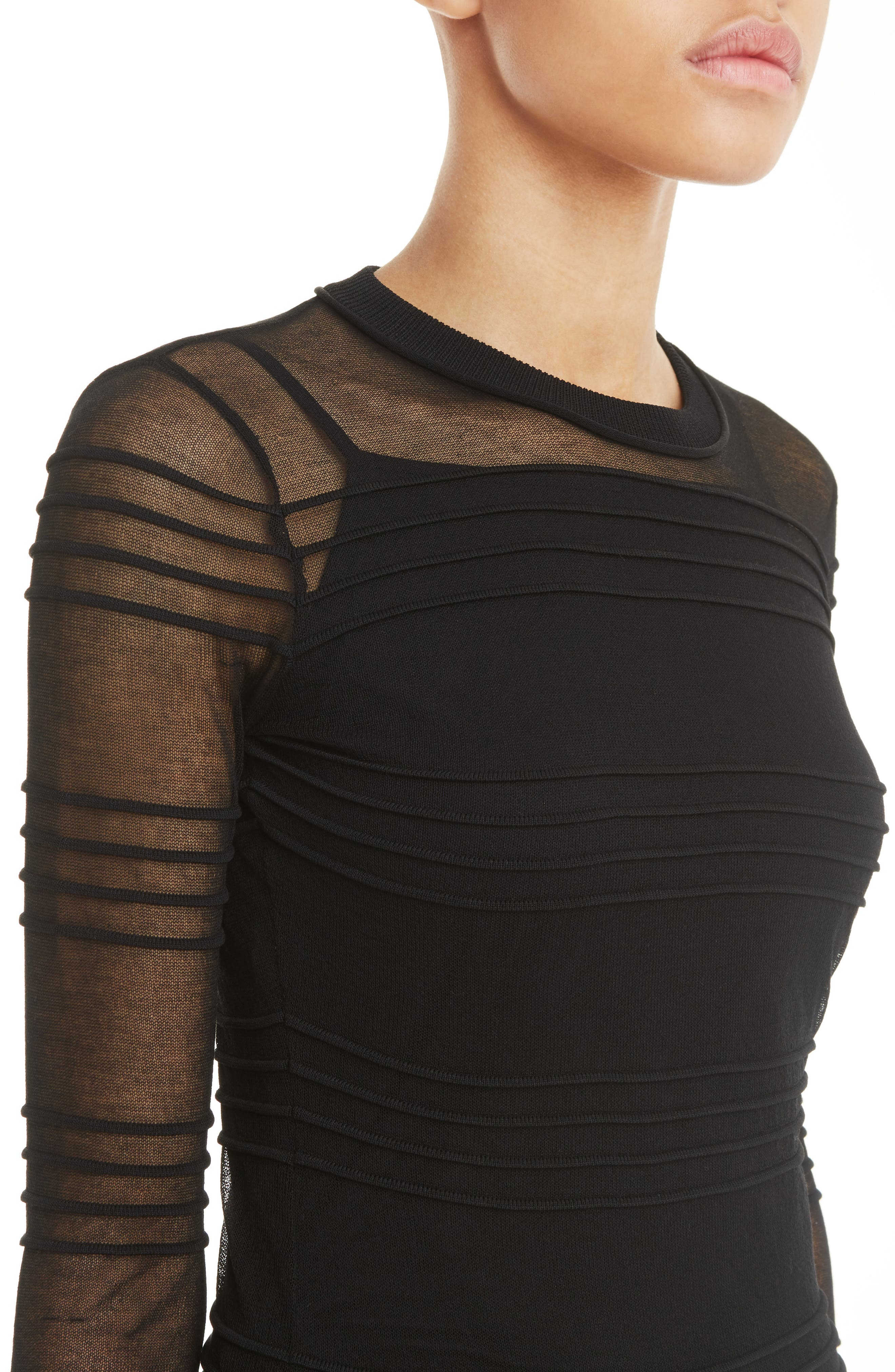 Alternate Image 4  - Carven Pintuck Knit Dress