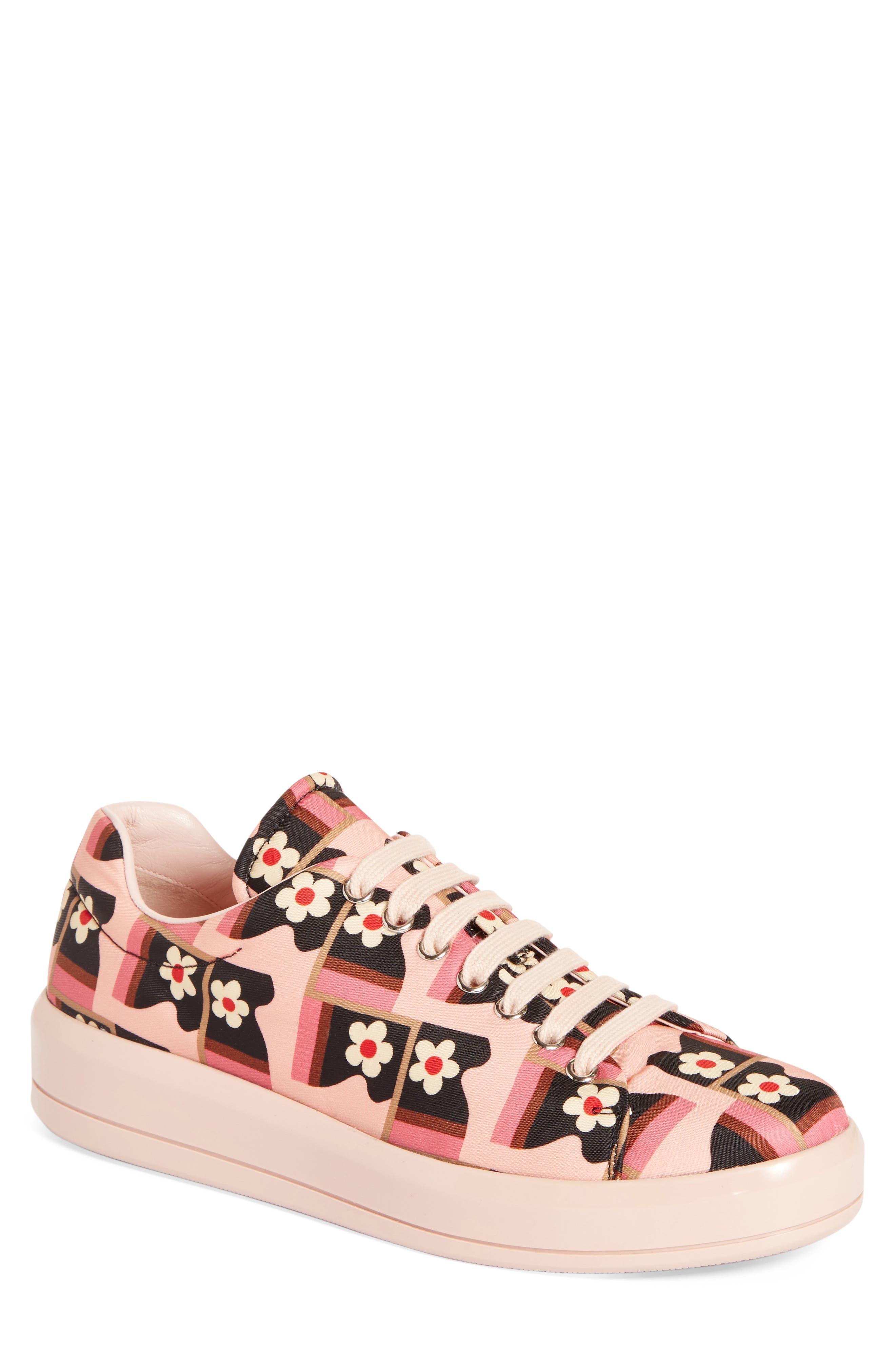 PRADA Floral Sneaker