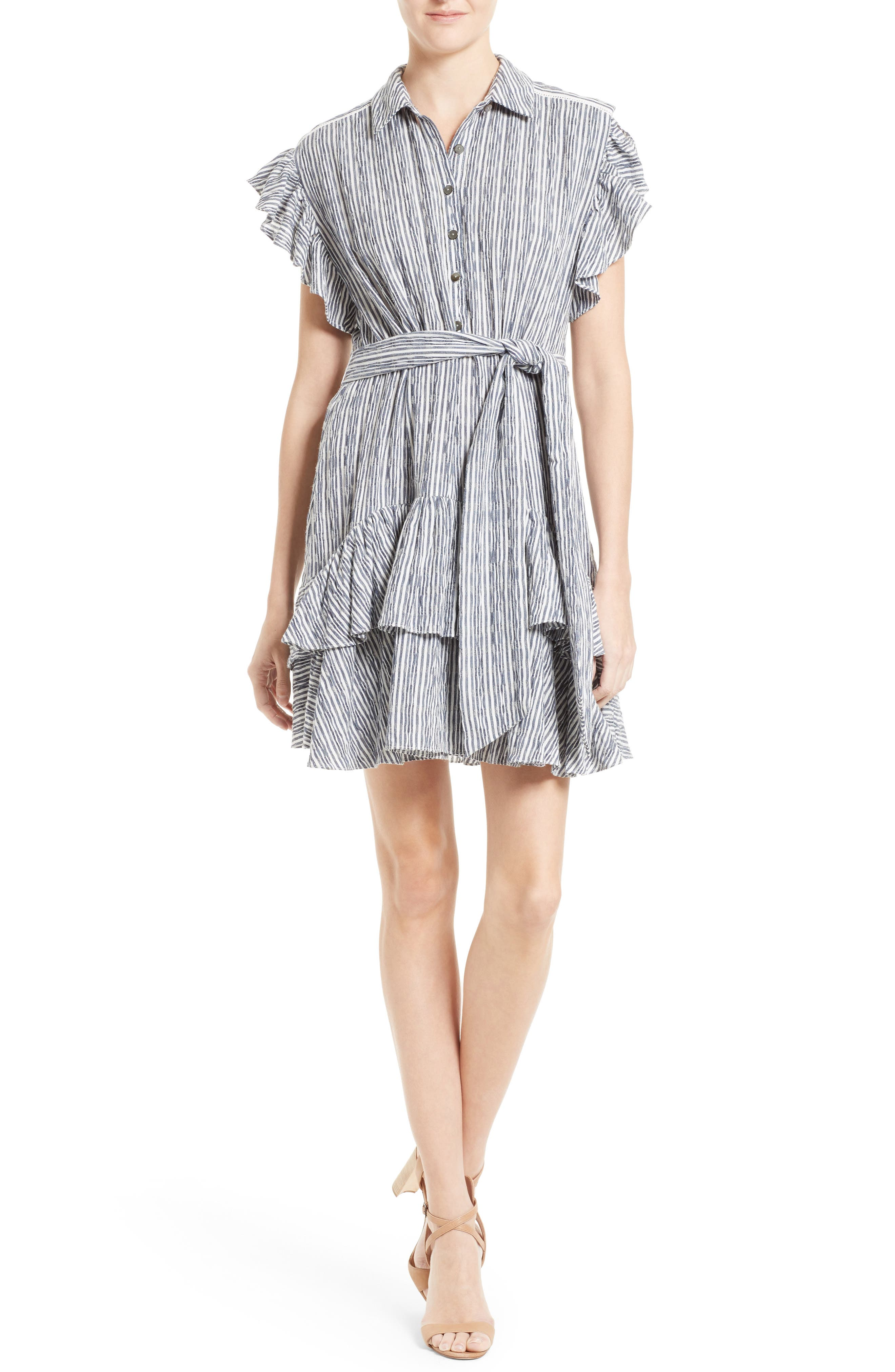 Alternate Image 1 Selected - Rebecca Taylor Stripe Shirtdress